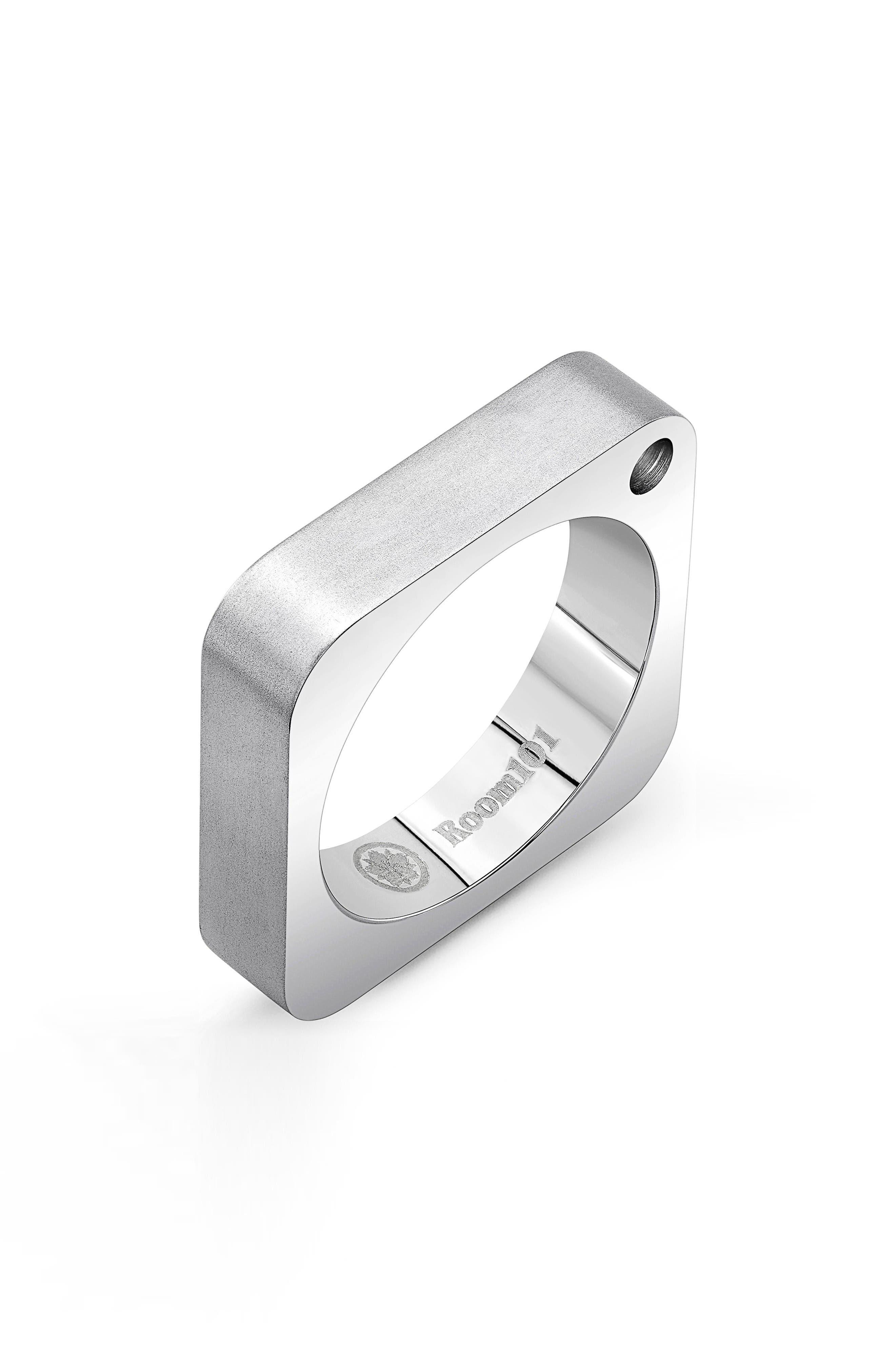 Square Ring,                         Main,                         color, Silver