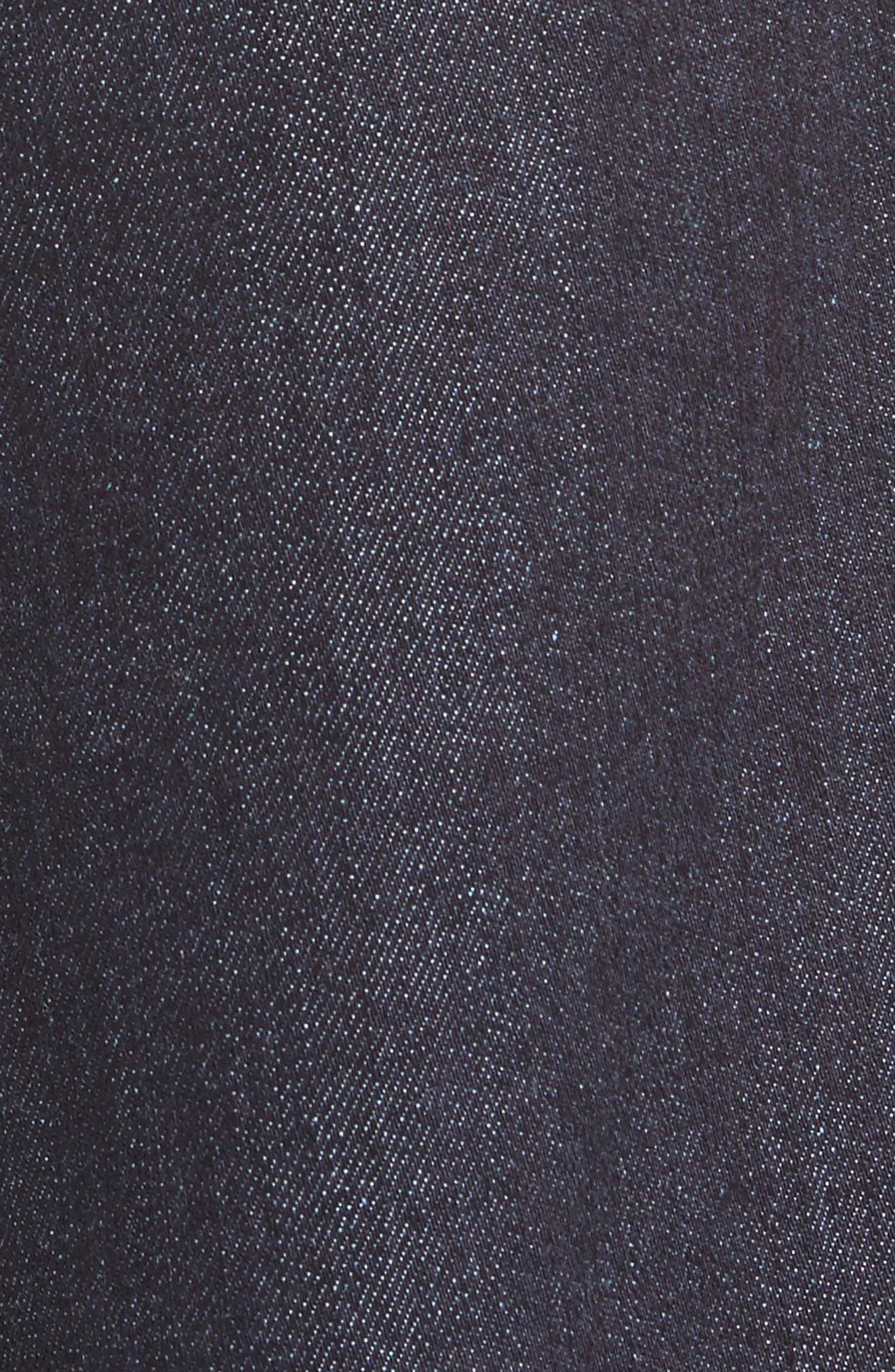 Sam High Waist Culotte Jeans,                             Alternate thumbnail 6, color,                             Dark Denim