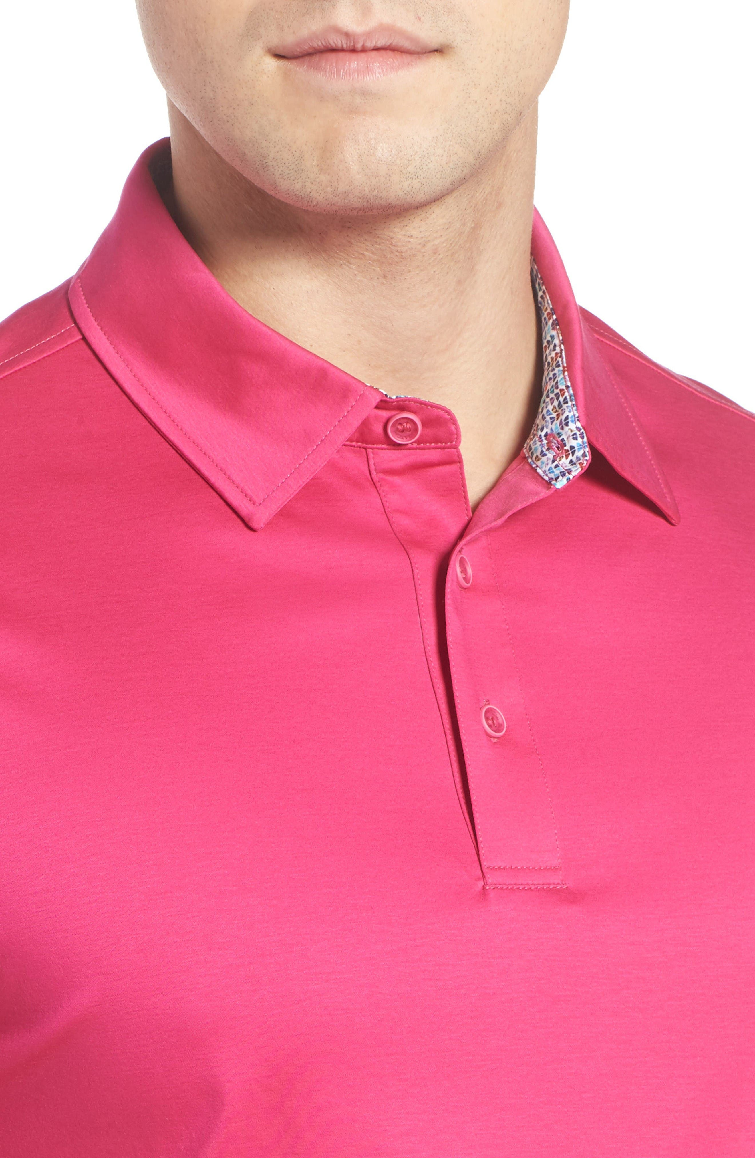 Alternate Image 4  - Bugatchi Jersey Polo