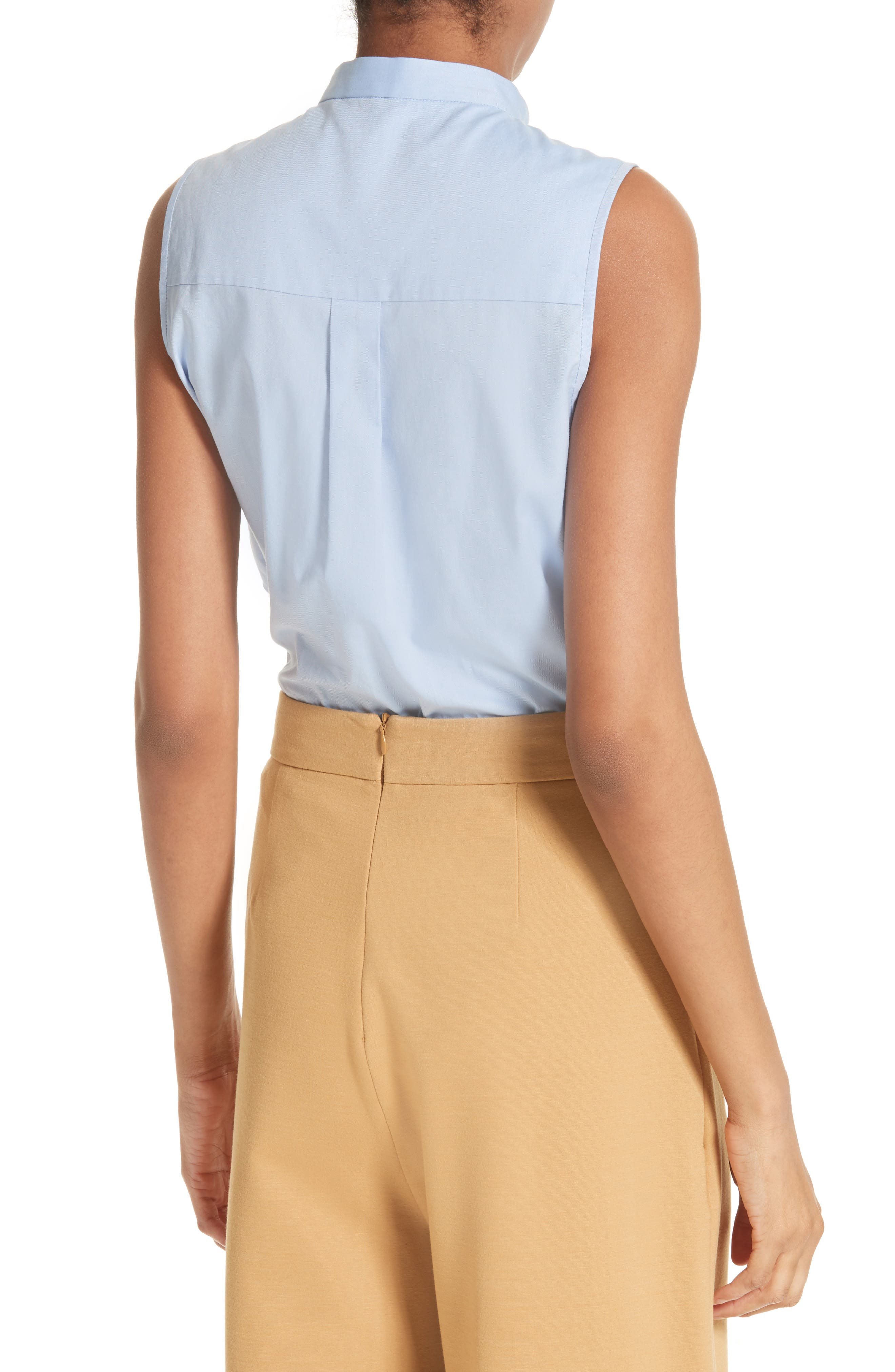 Ruggle Oxford Cotton Shirt,                             Alternate thumbnail 3, color,                             Light Blue