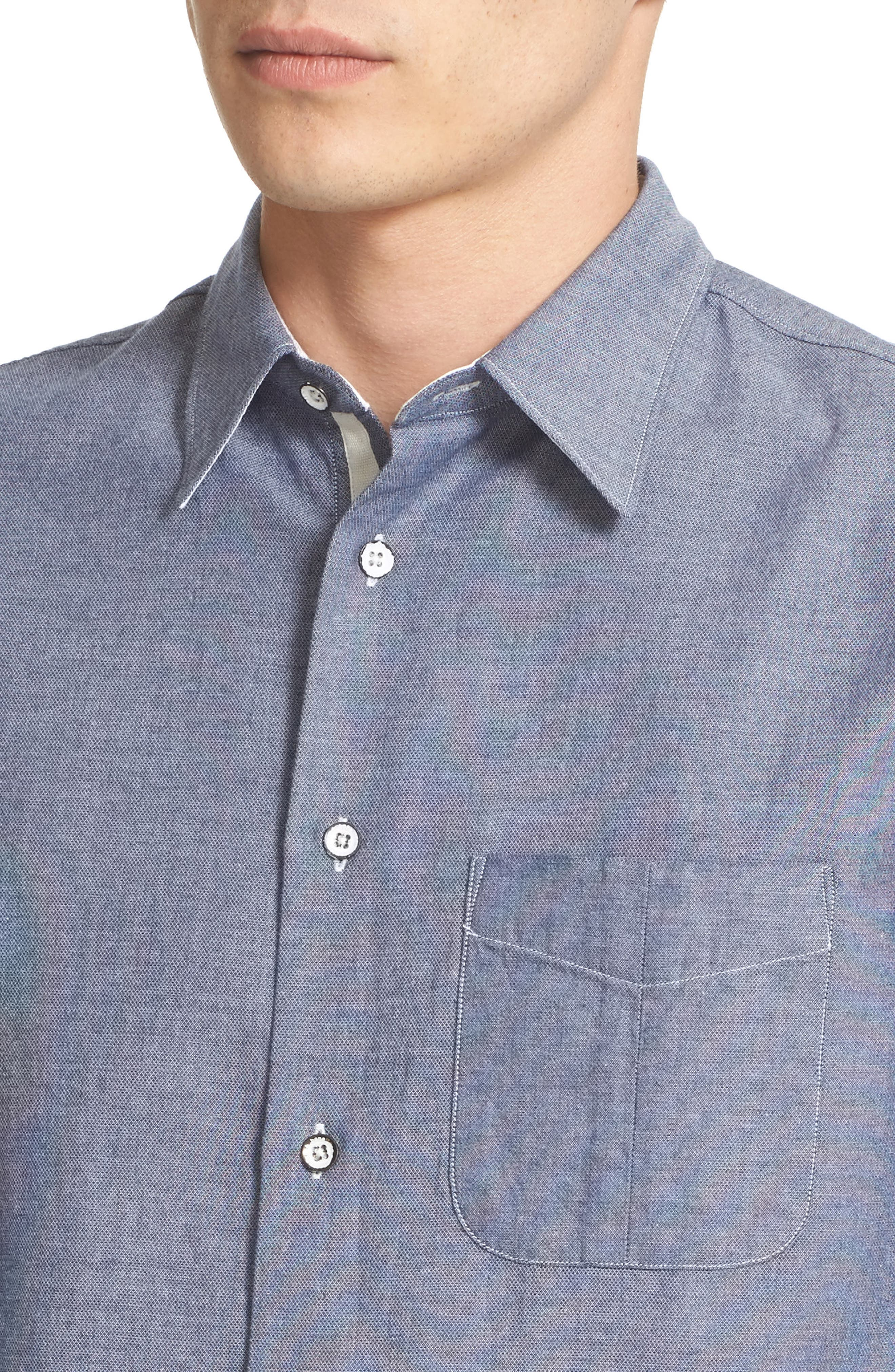 Alternate Image 2  - rag & bone Beach Trim Fit Sport Shirt