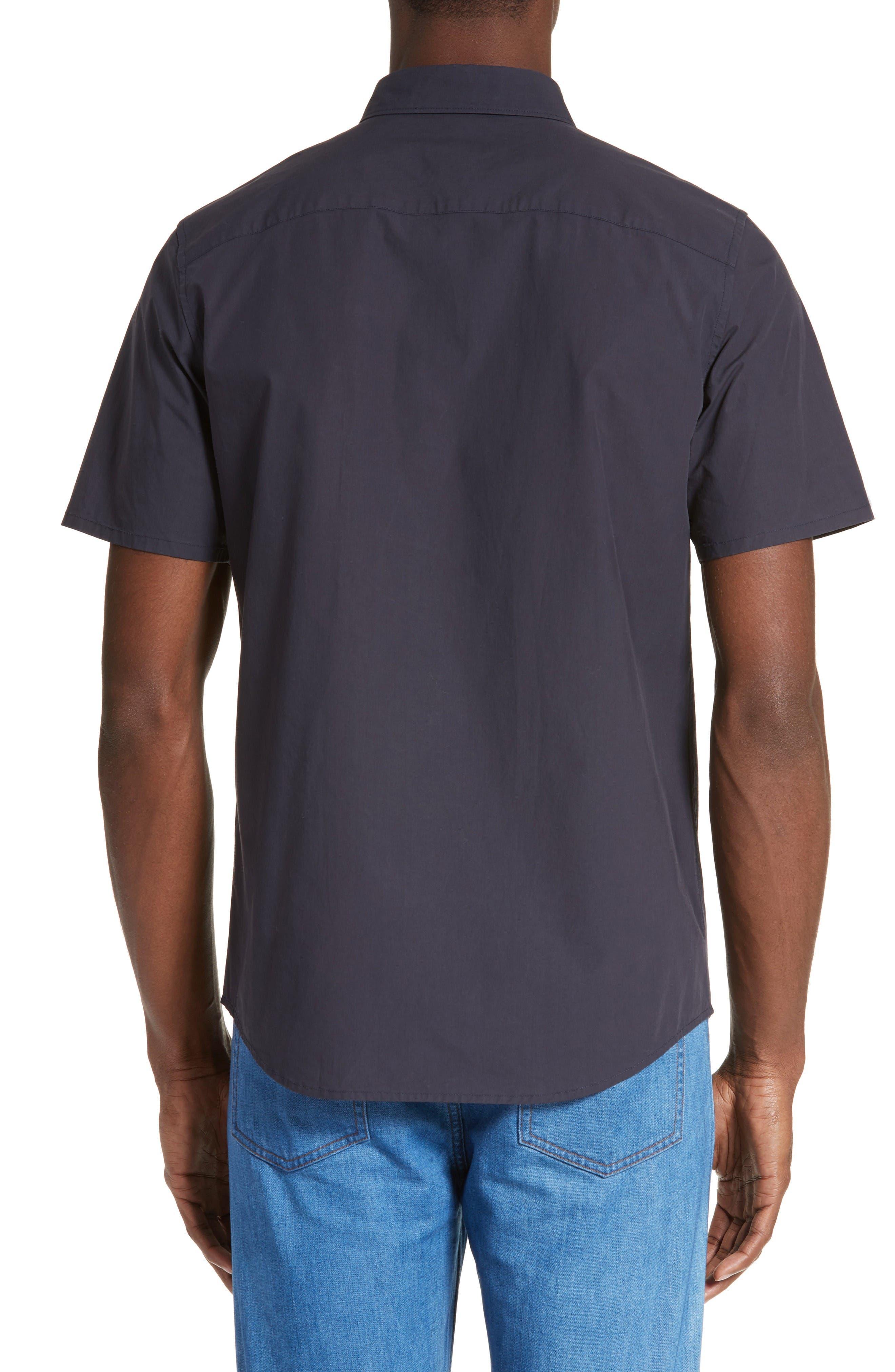 Andreas Extra Trim Fit Sport Shirt,                             Alternate thumbnail 2, color,                             Dark Navy