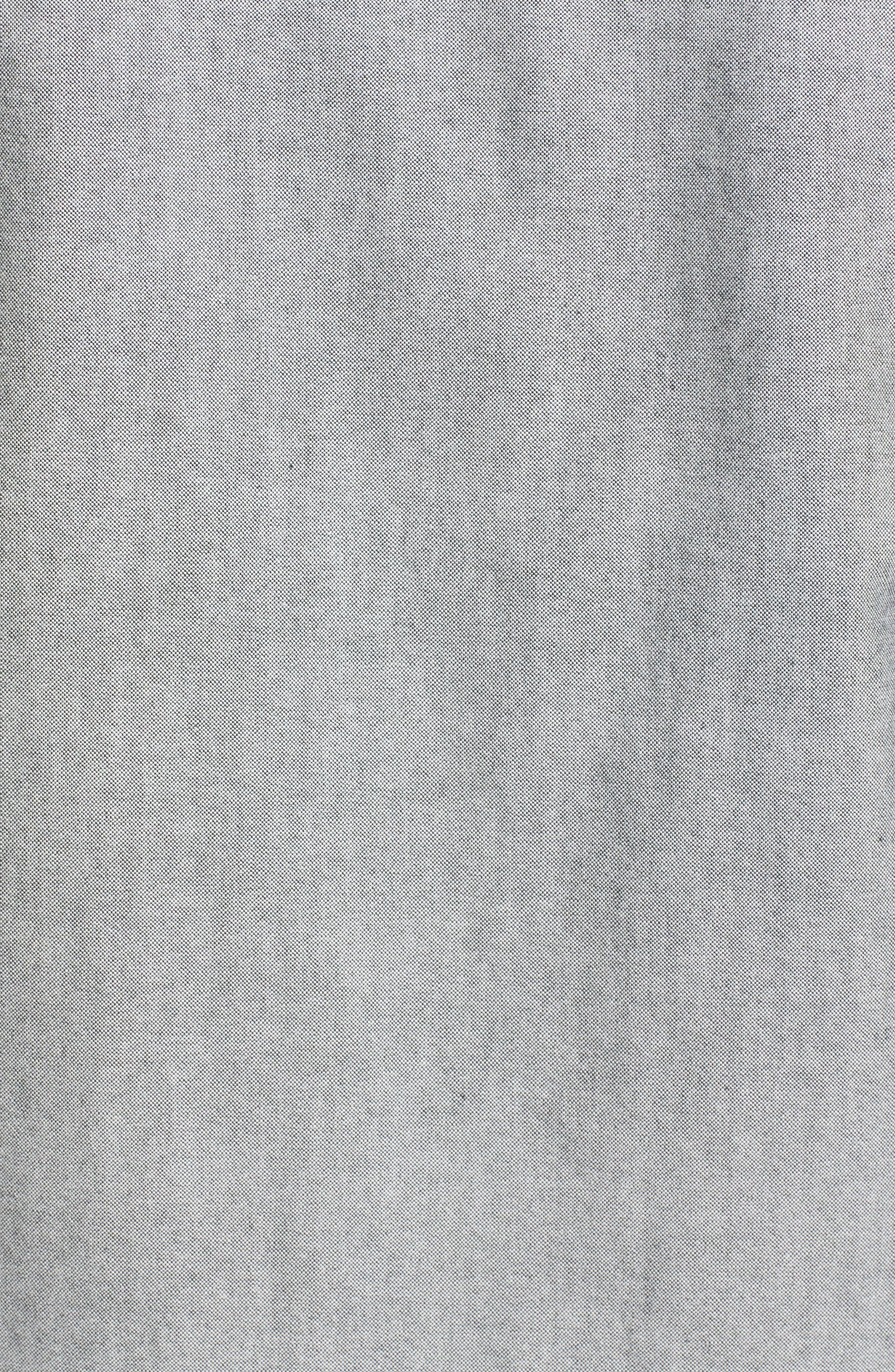 Beach Trim Fit Oxford Sport Shirt,                             Alternate thumbnail 5, color,                             Grey