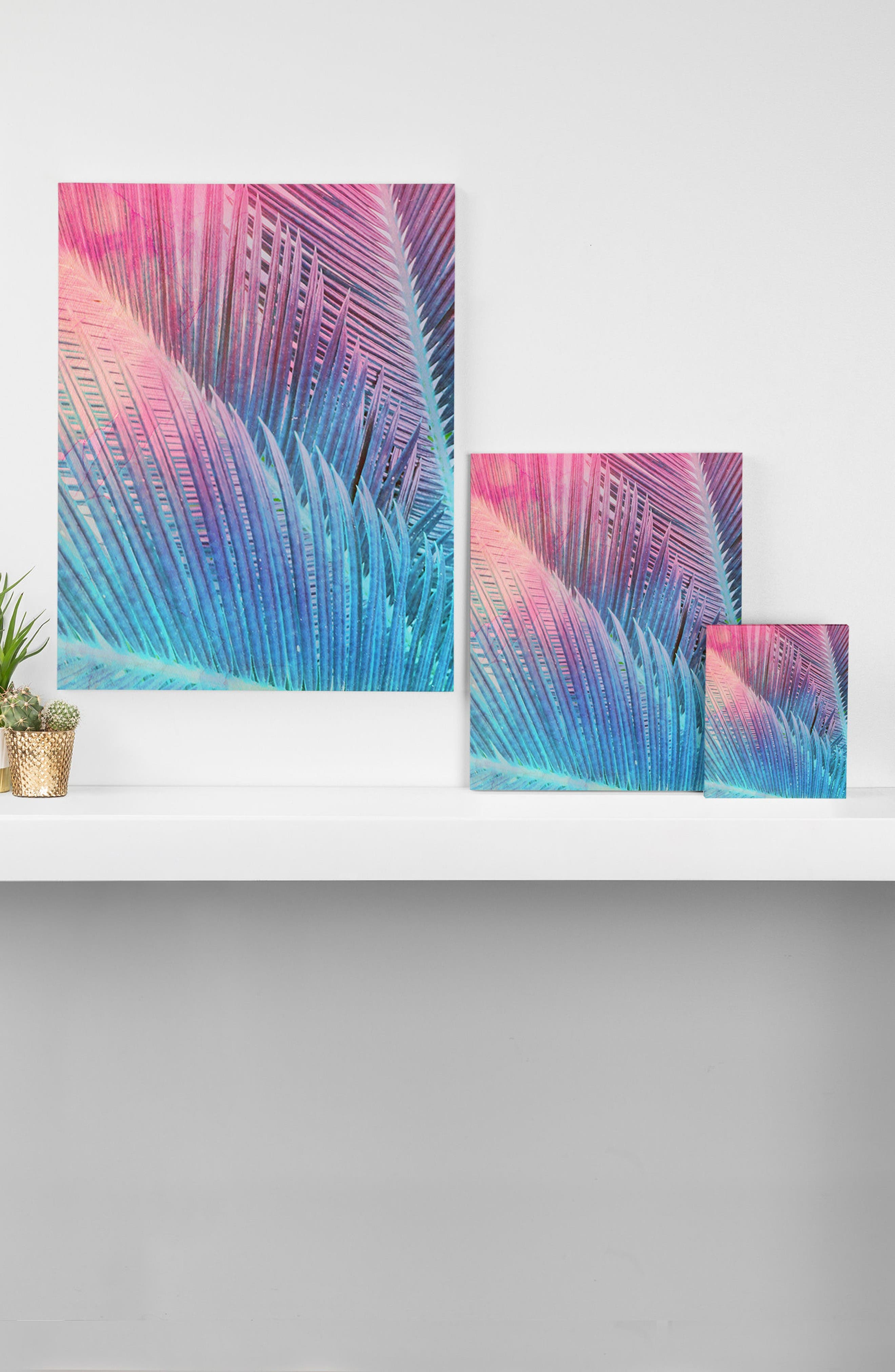Palm 1 Canvas Wall Art,                             Alternate thumbnail 2, color,                             Pink