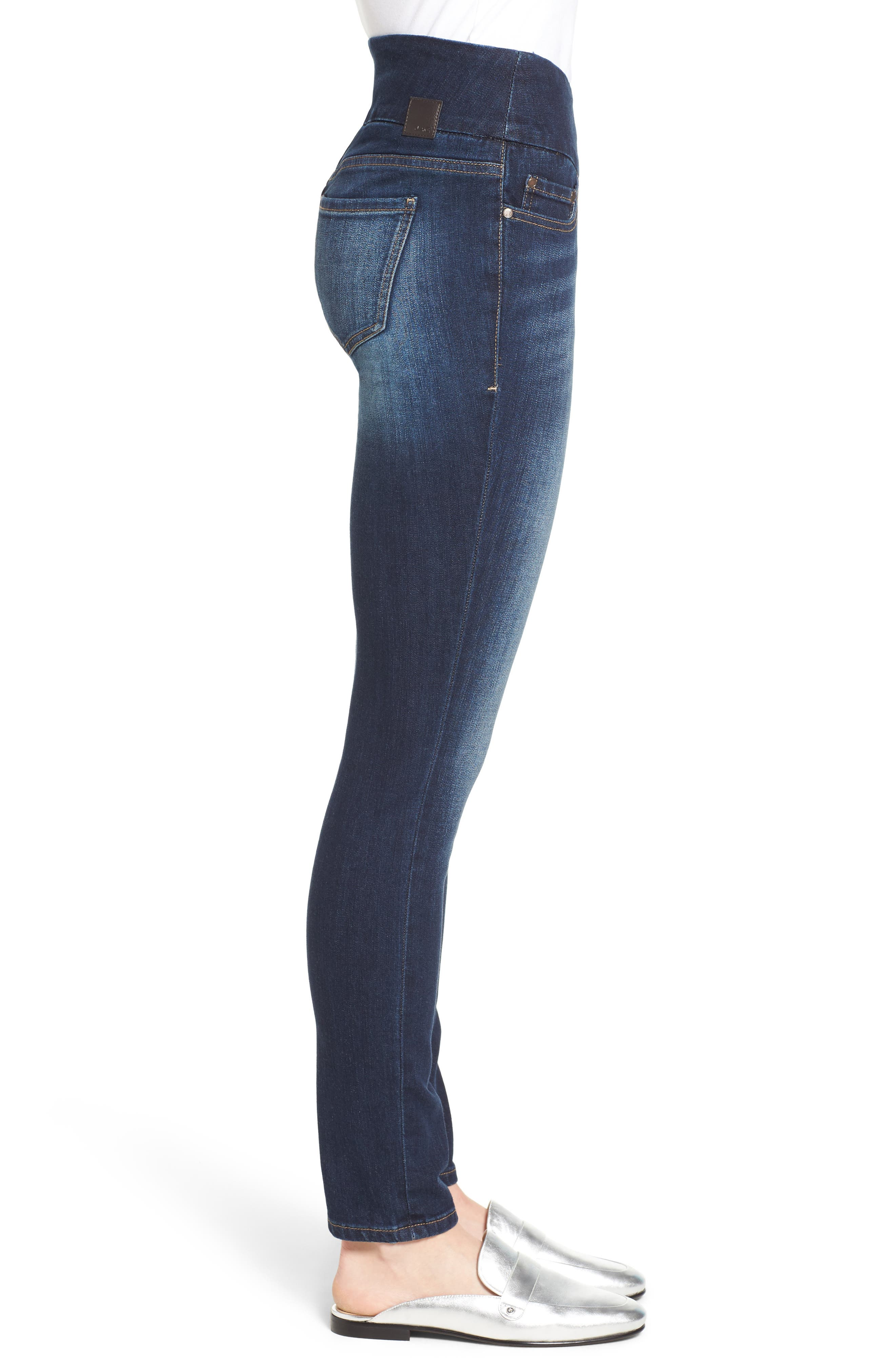 Alternate Image 3  - Jag Nora Stretch Cotton Skinny Jeans (Medium Indigo)