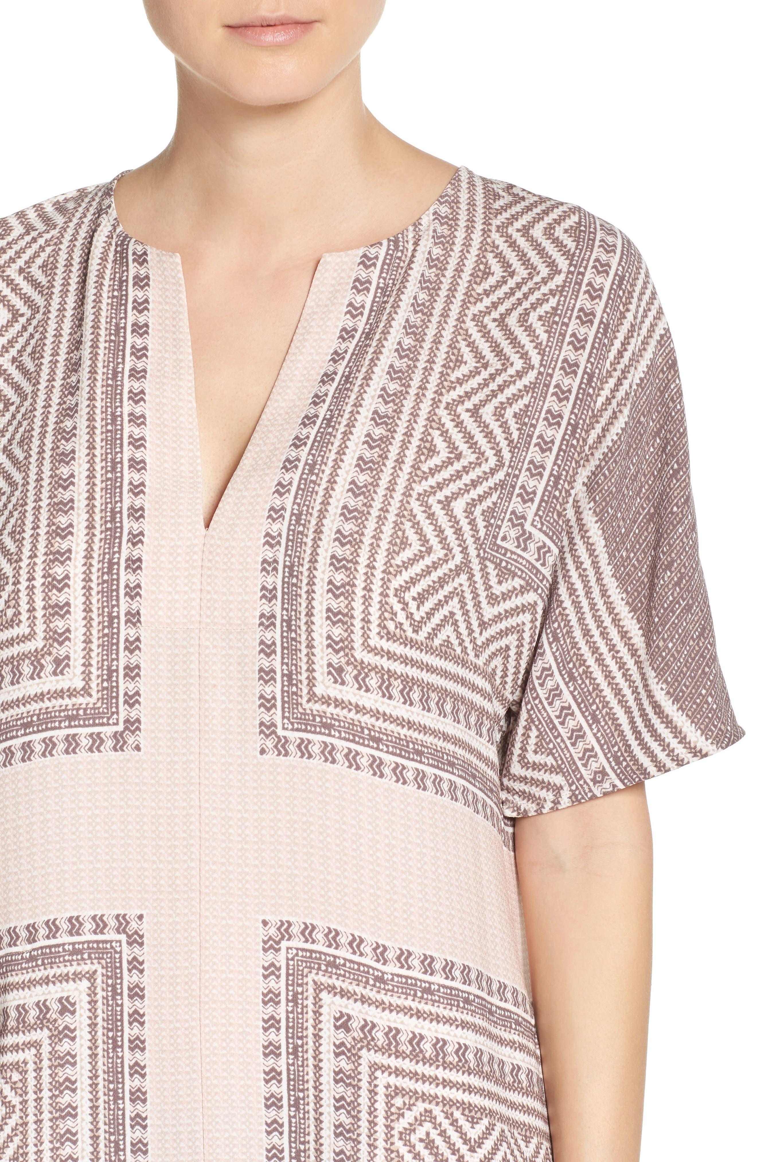 Alternate Image 5  - BCBGMAXAZRIA Scarf Print Dress