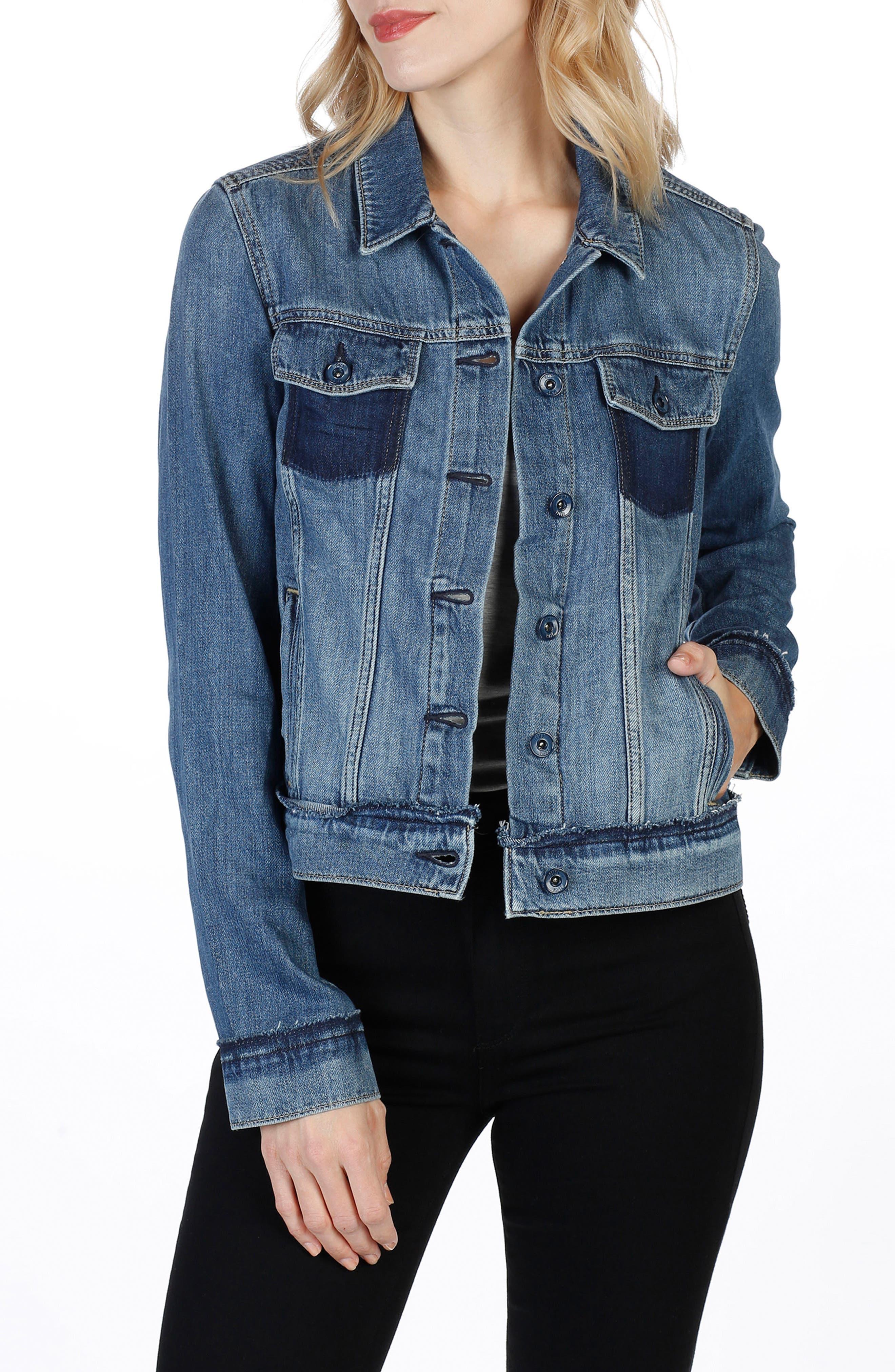 PAIGE Rowan Deconstructed Denim Jacket
