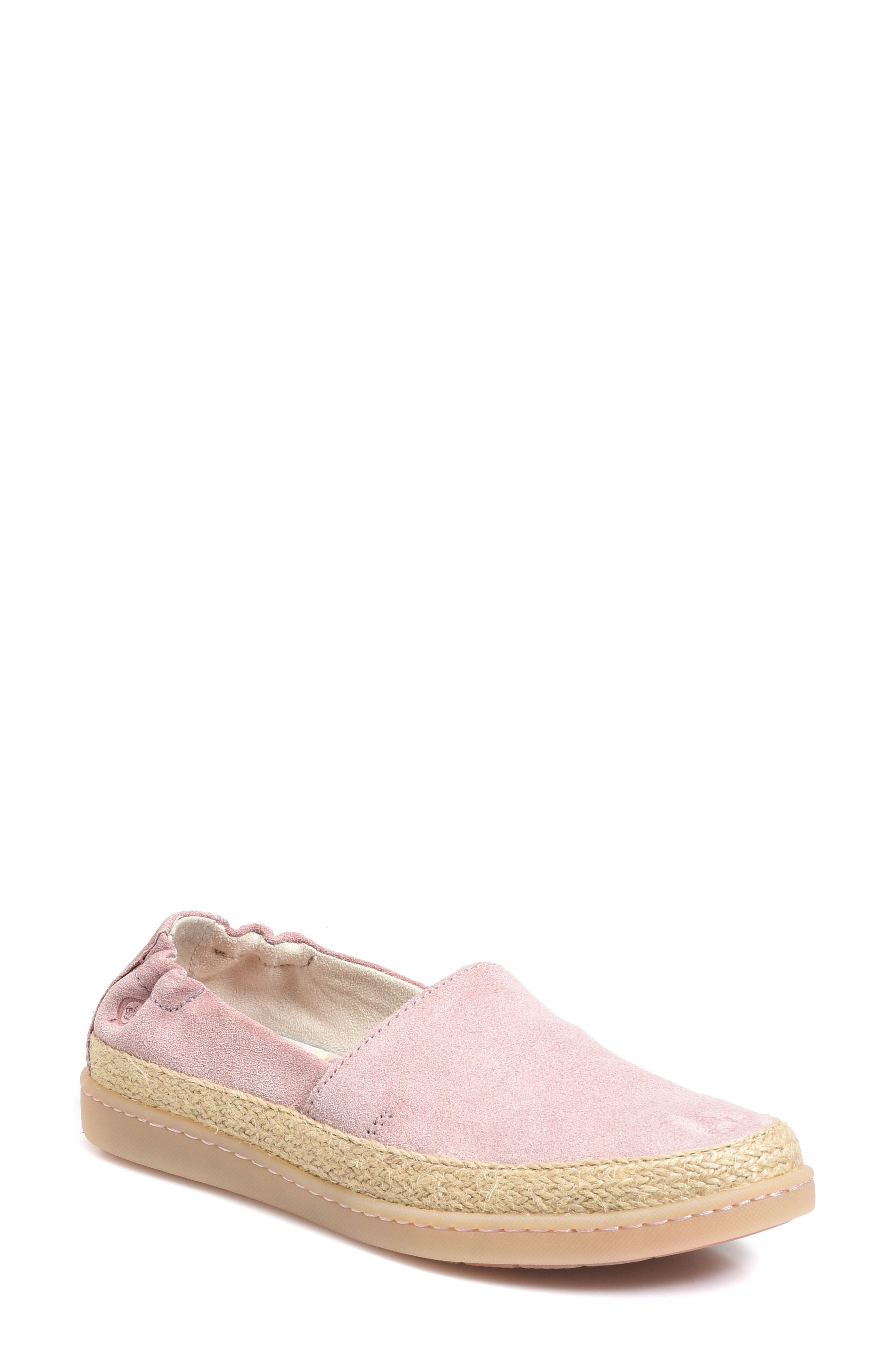Castries Flat,                             Main thumbnail 1, color,                             Pink Suede