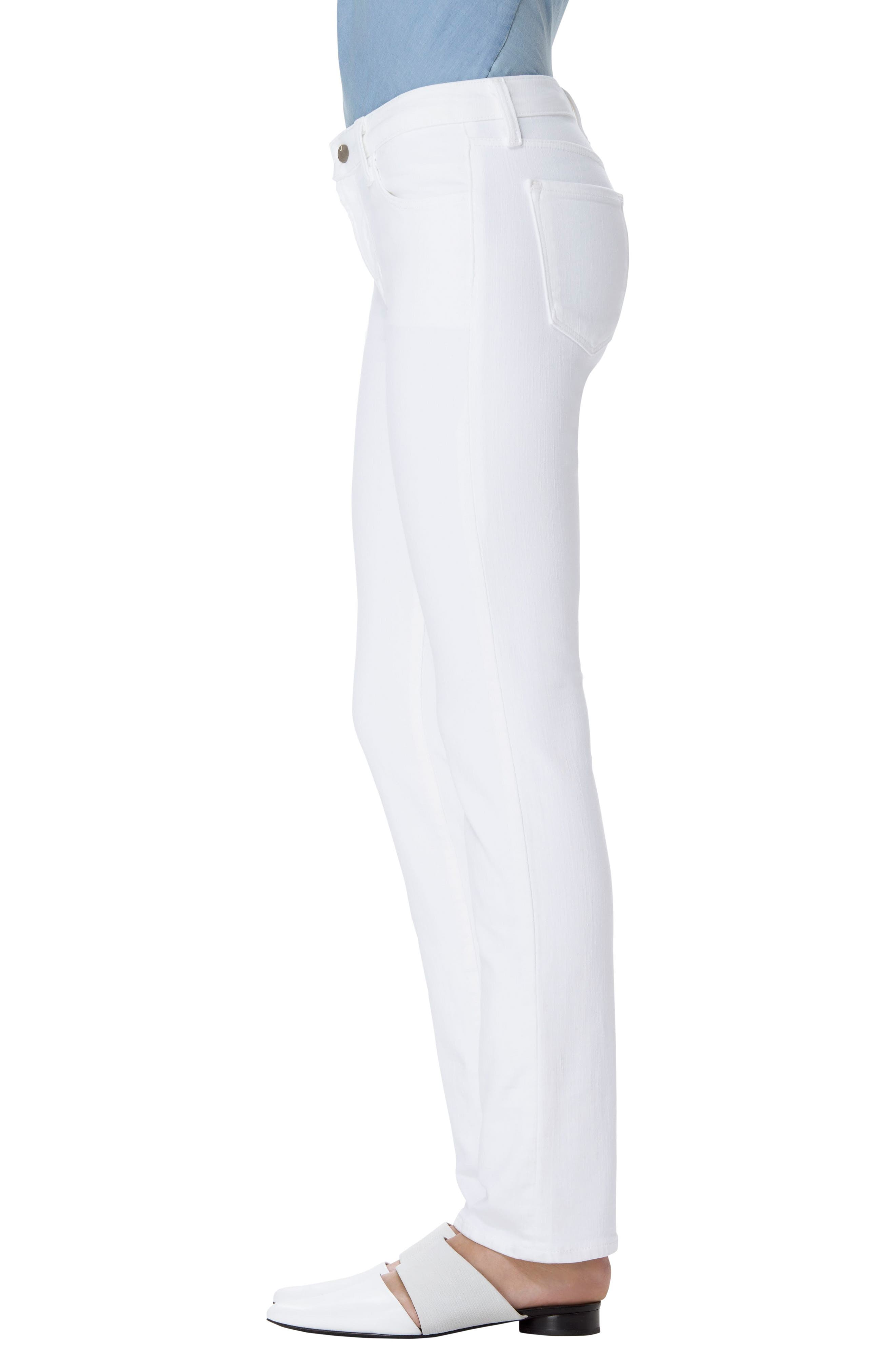 Alternate Image 3  - J Brand Amelia Straight Leg Jeans (Blanc)