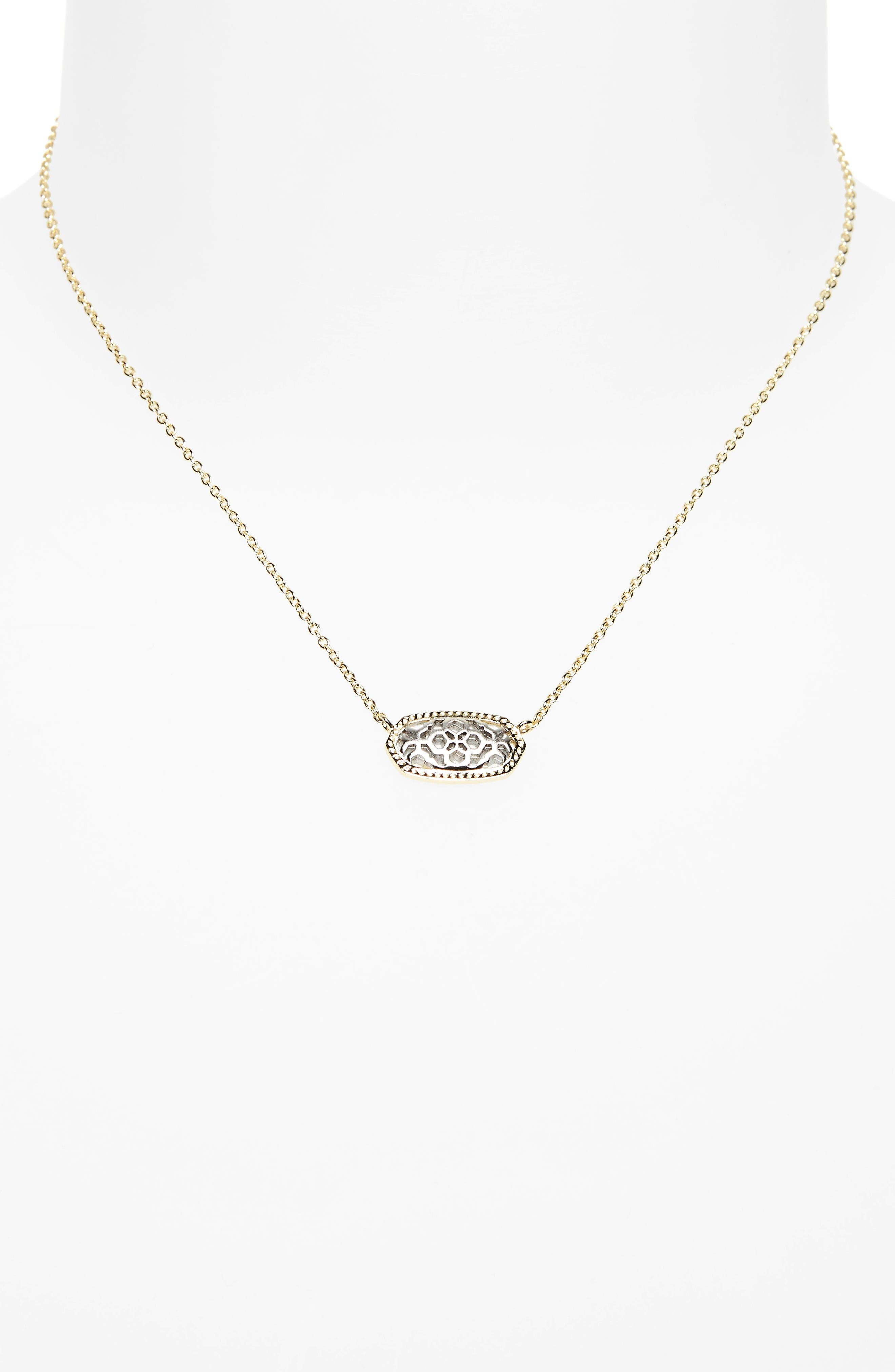 Alternate Image 2  - Kendra Scott Elisa Openwork Pendant Necklace
