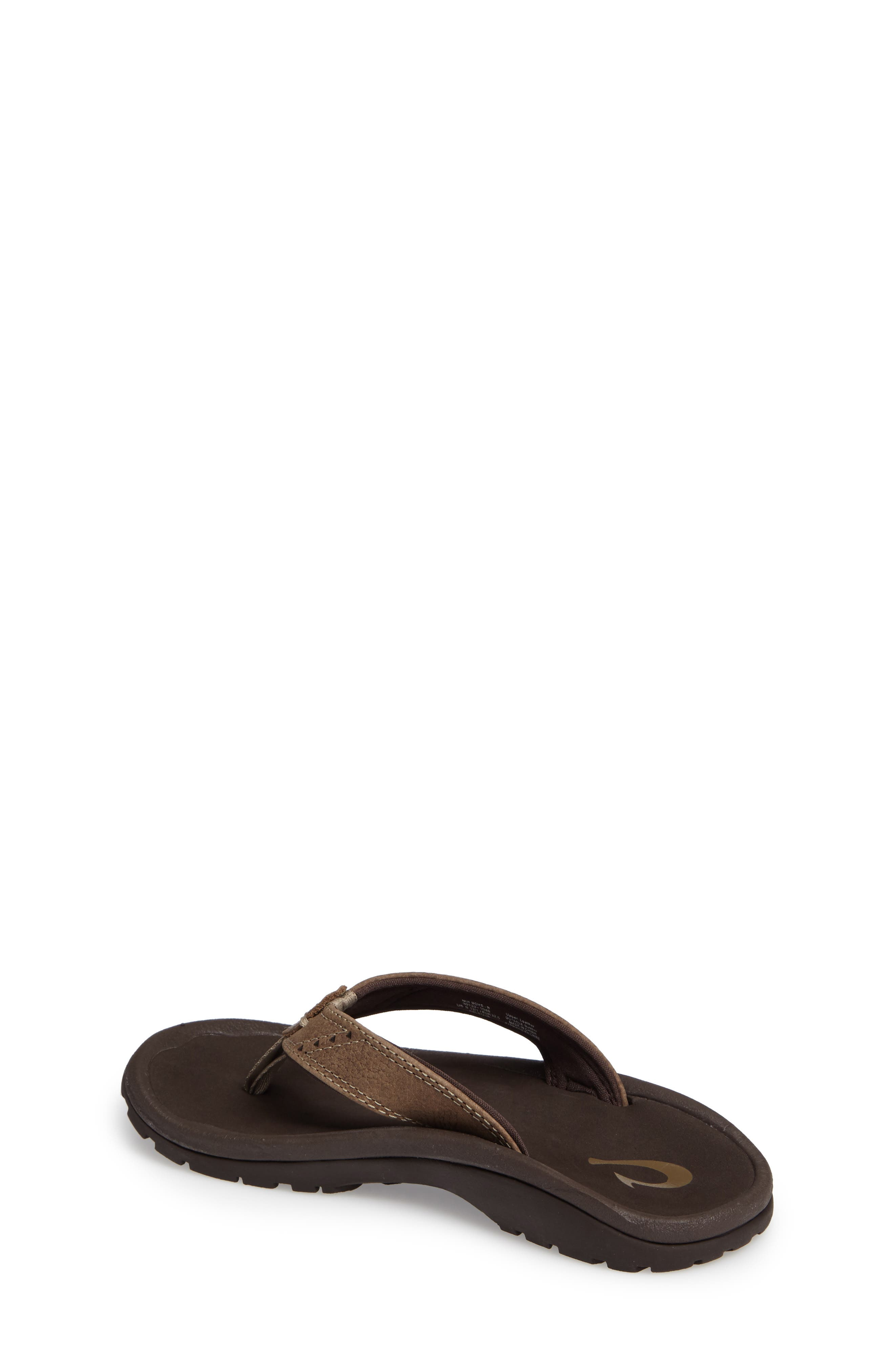 Nui Leather Flip Flop,                             Alternate thumbnail 2, color,                             Clay/ Dark Java