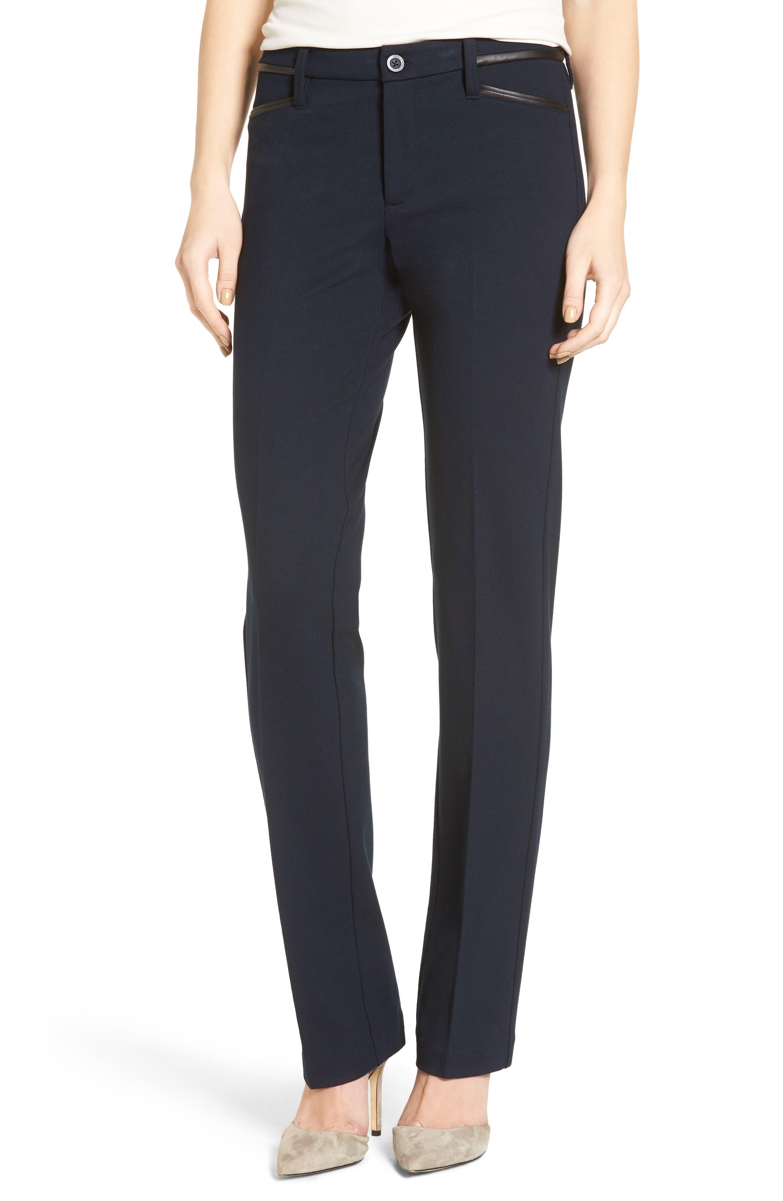 Alternate Image 1 Selected - NYDJ Marilyn Straight Leg Ponte Pants