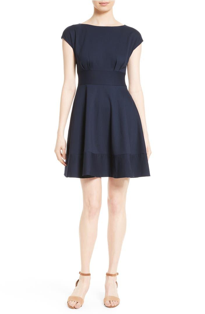 Kate Spade New York Ponte Fiorella Fit Amp Flare Dress
