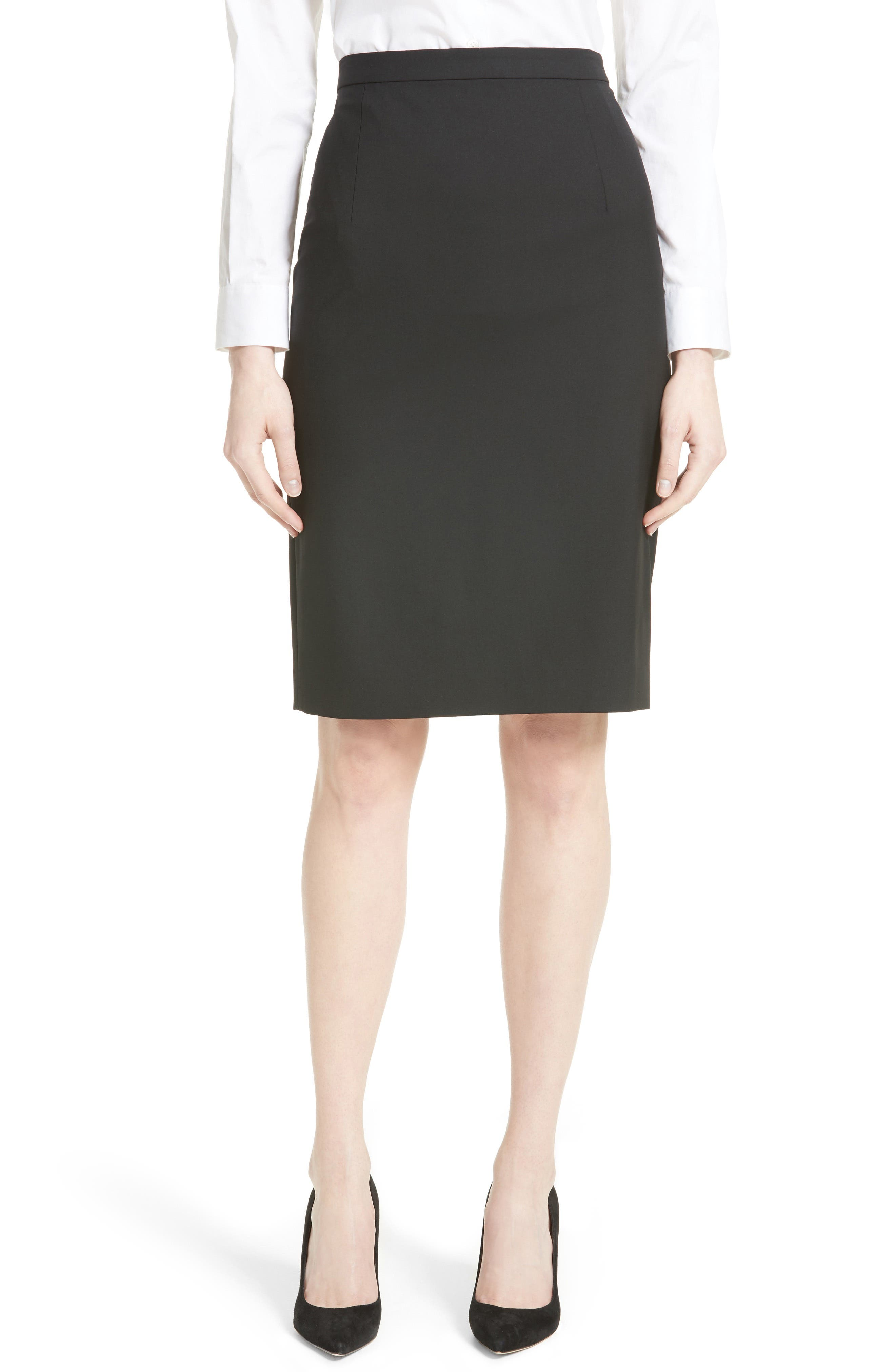THEORY Hemdall B Stretch Wool Pencil Skirt