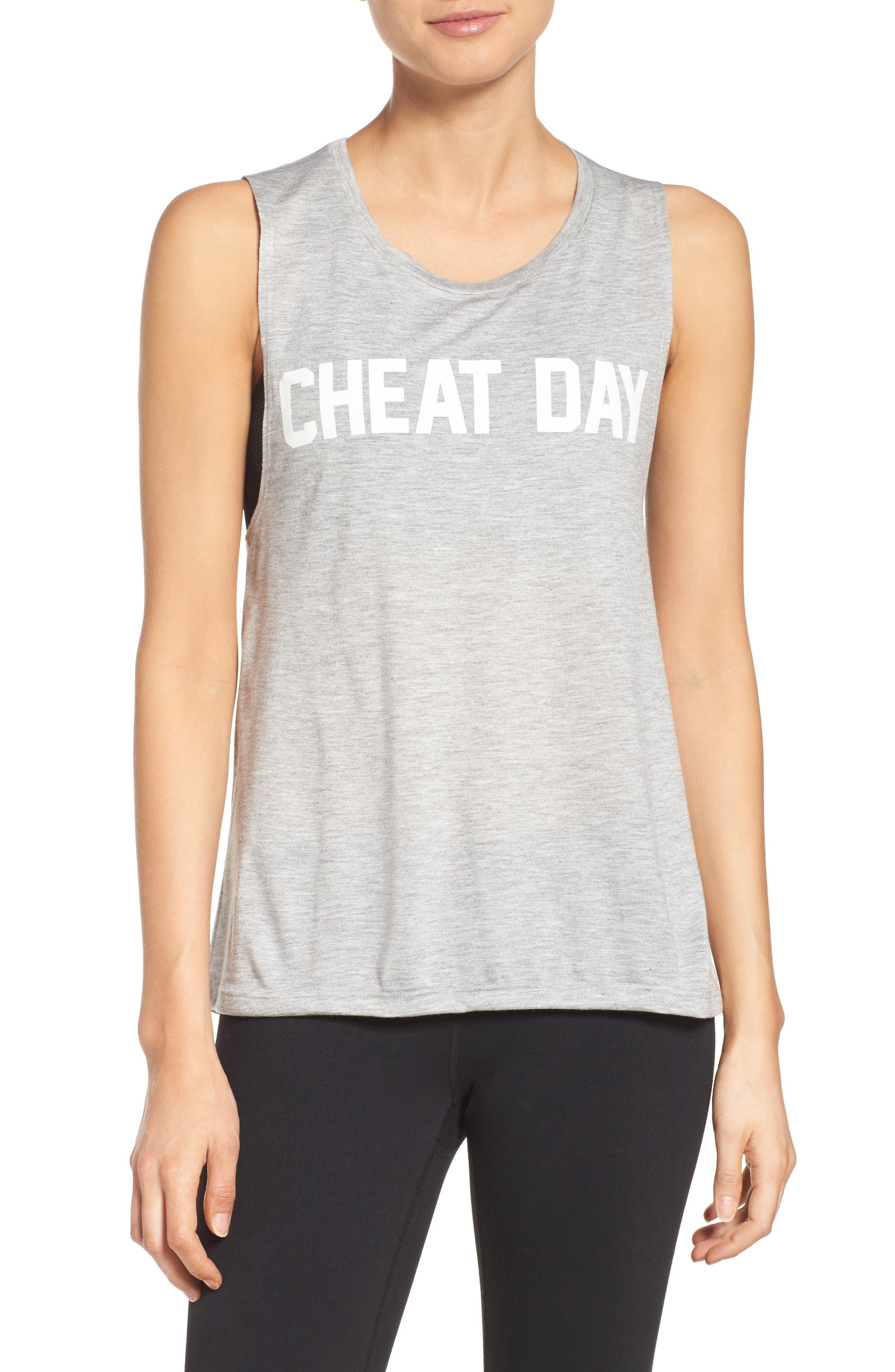 Cheat Day Tank,                         Main,                         color, Grey