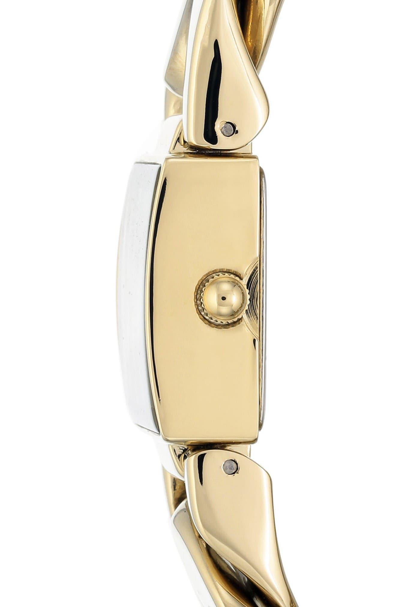 Bracelet Watch, 20.5mm,                             Alternate thumbnail 3, color,                             Gold