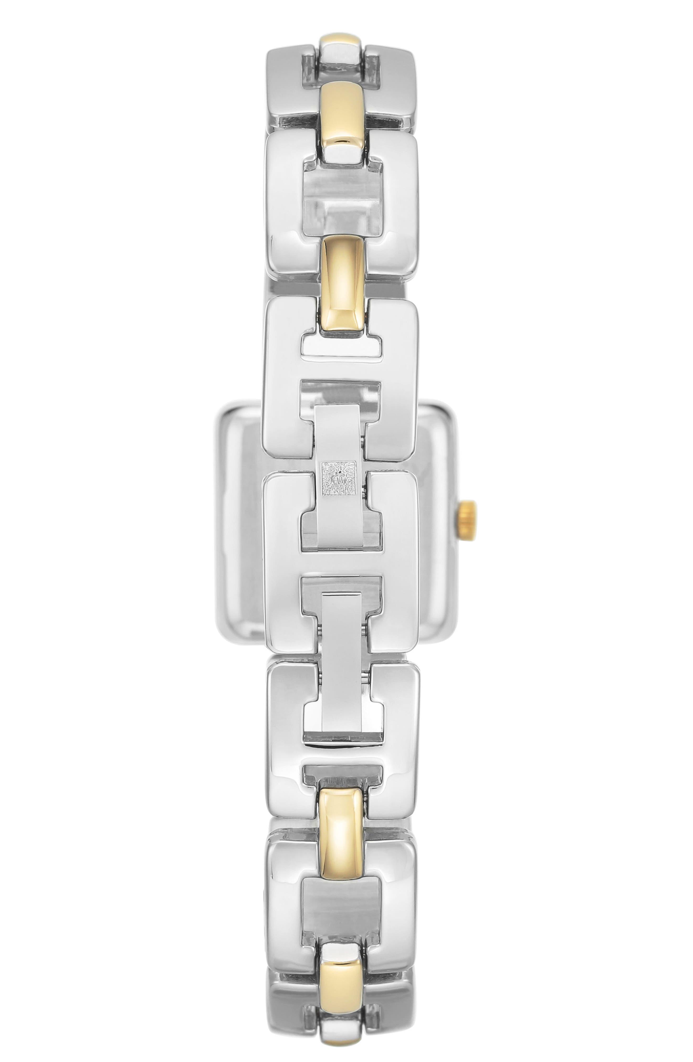 Square Bracelet Watch, 20mm,                             Alternate thumbnail 2, color,                             Silver/ Gold