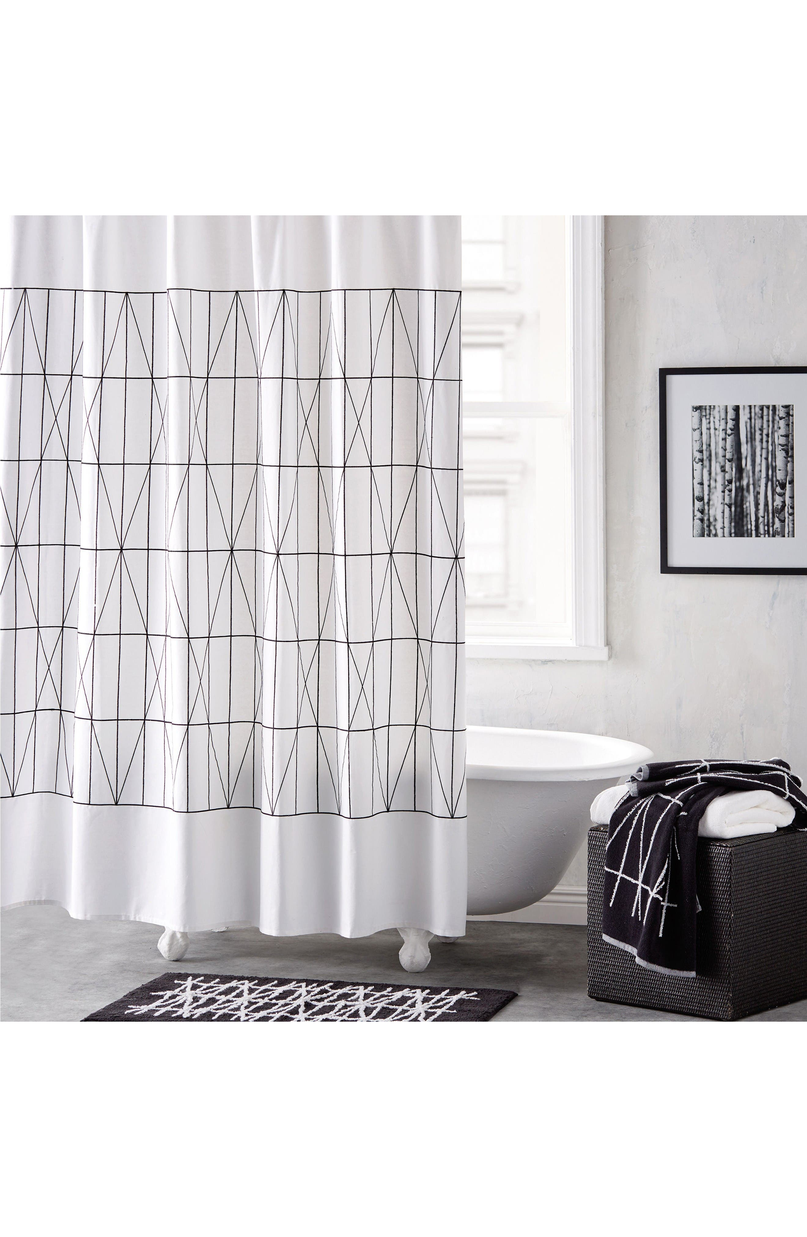 Alternate Image 1 Selected - DKNY Geometrix Shower Curtain