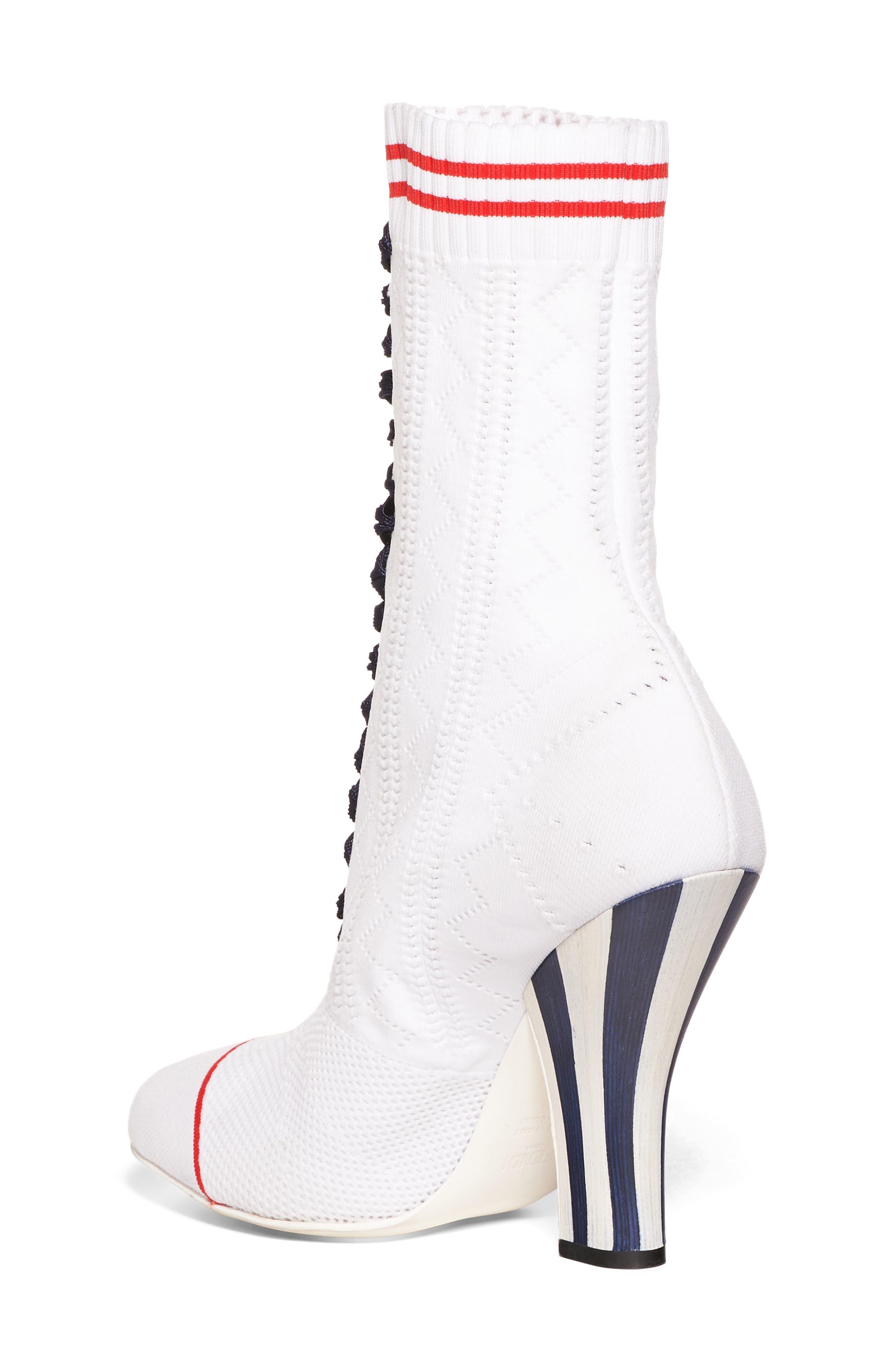 Alternate Image 2  - Fendi Lace-Up Sock Bootie (Women)
