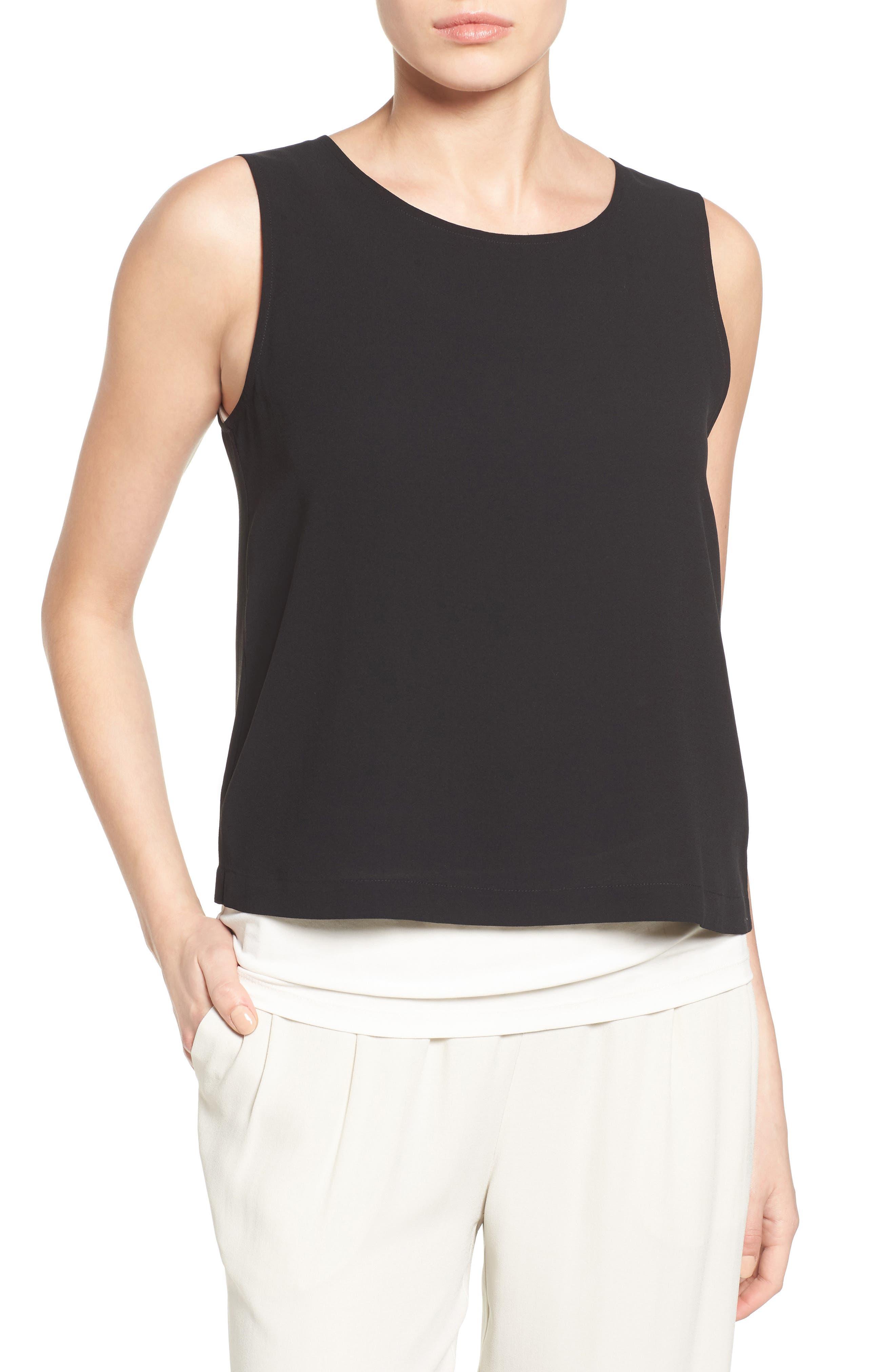 Silk Shell,                         Main,                         color, Black