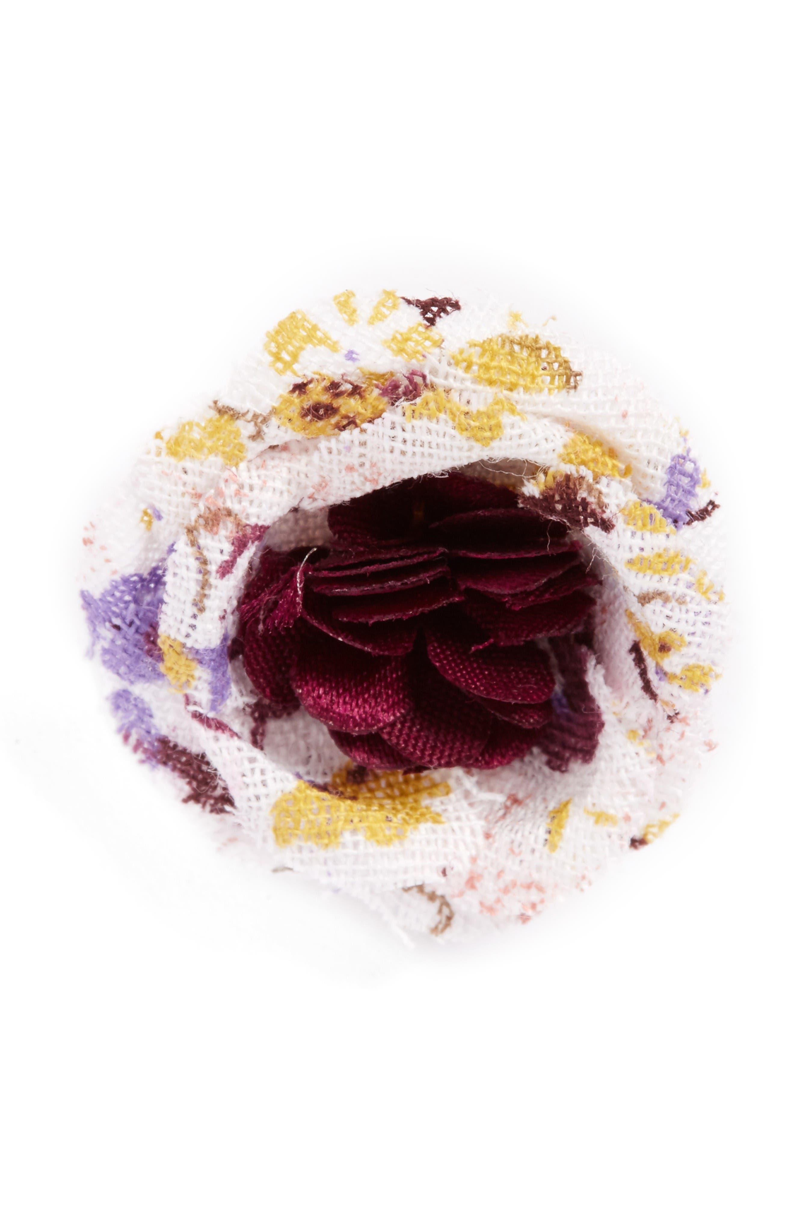 Lapel Flower,                         Main,                         color, Purple