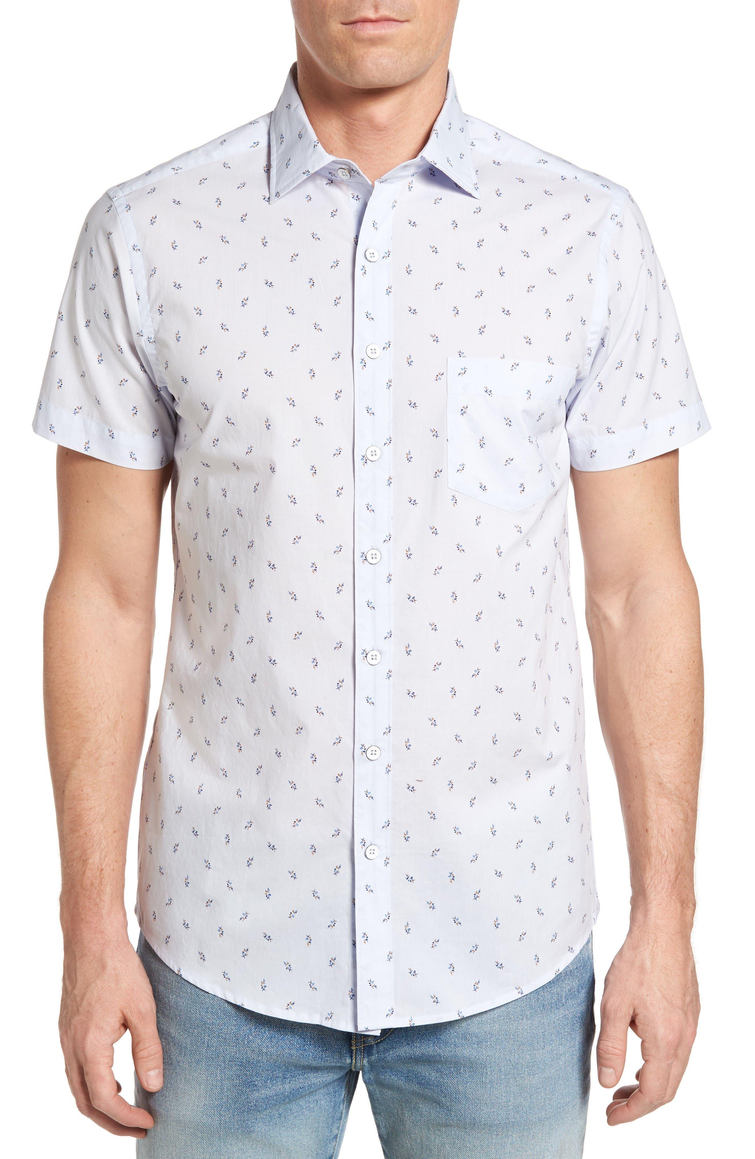 Waterfront Sport Shirt,                         Main,                         color, Powder Blue