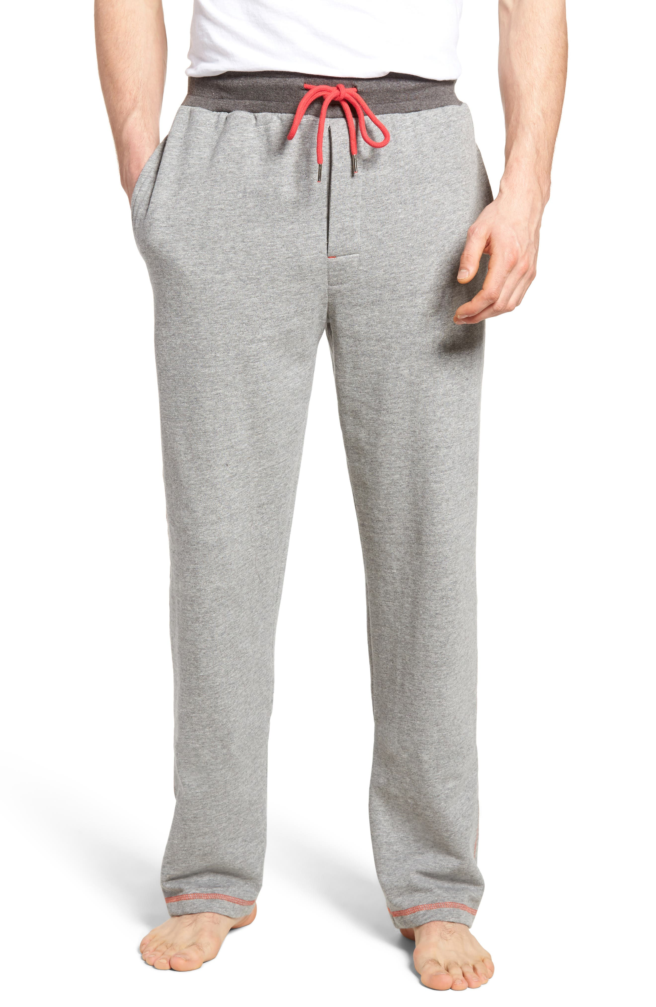 Bhooka Cotton Blend Lounge Pants,                         Main,                         color, Charcoal Heather