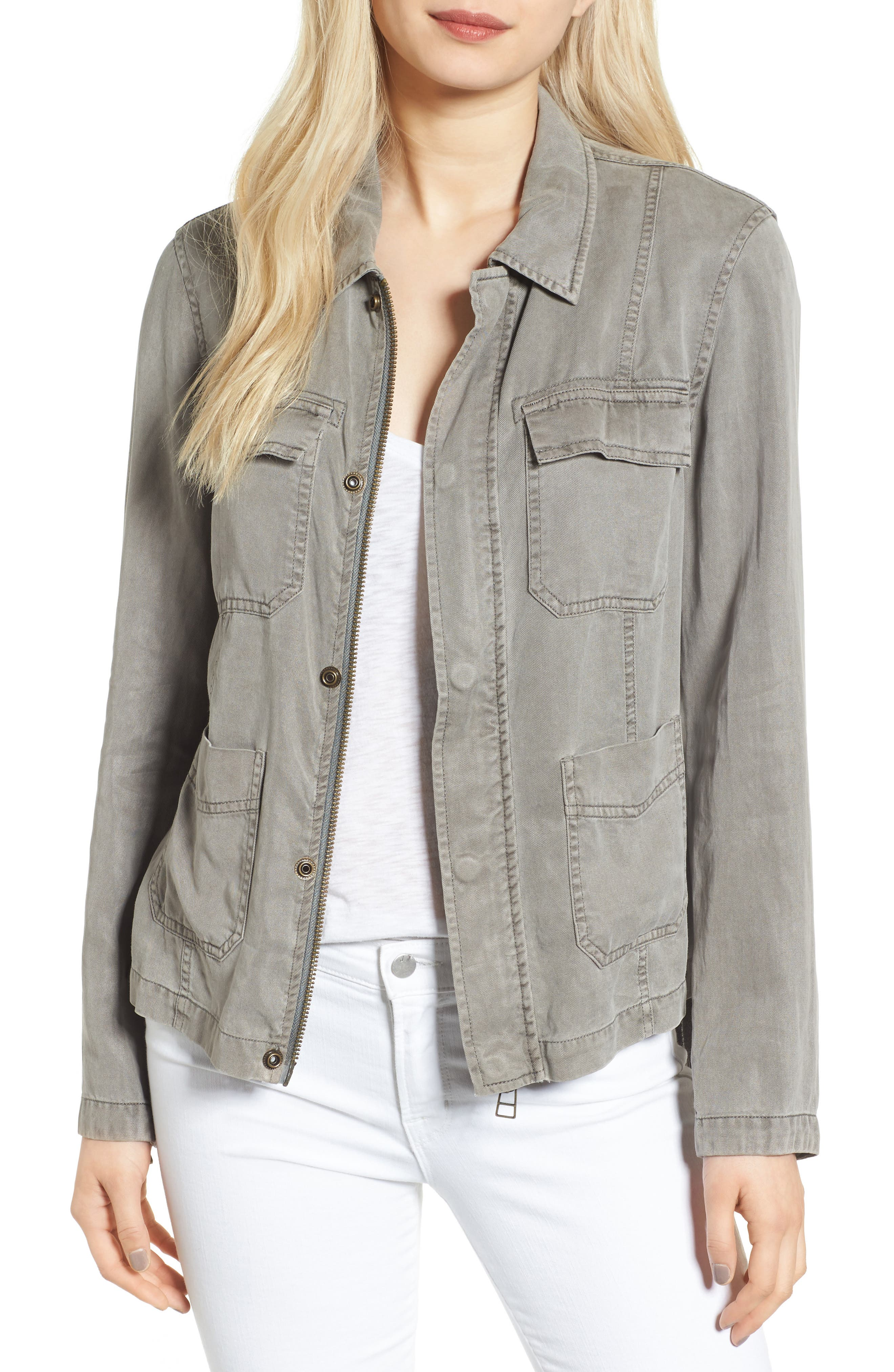 Pam & Gela Side Tie Cargo Jacket