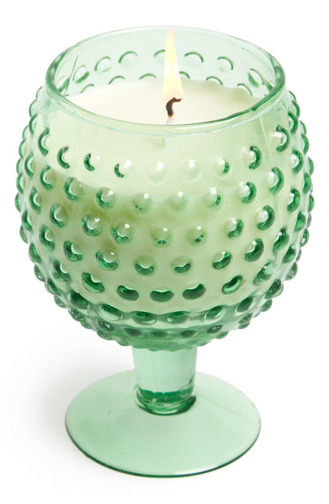 Alternate Image 1 Selected - Himalayan Trading Post Hobnail Goblet Soy Wax Candle