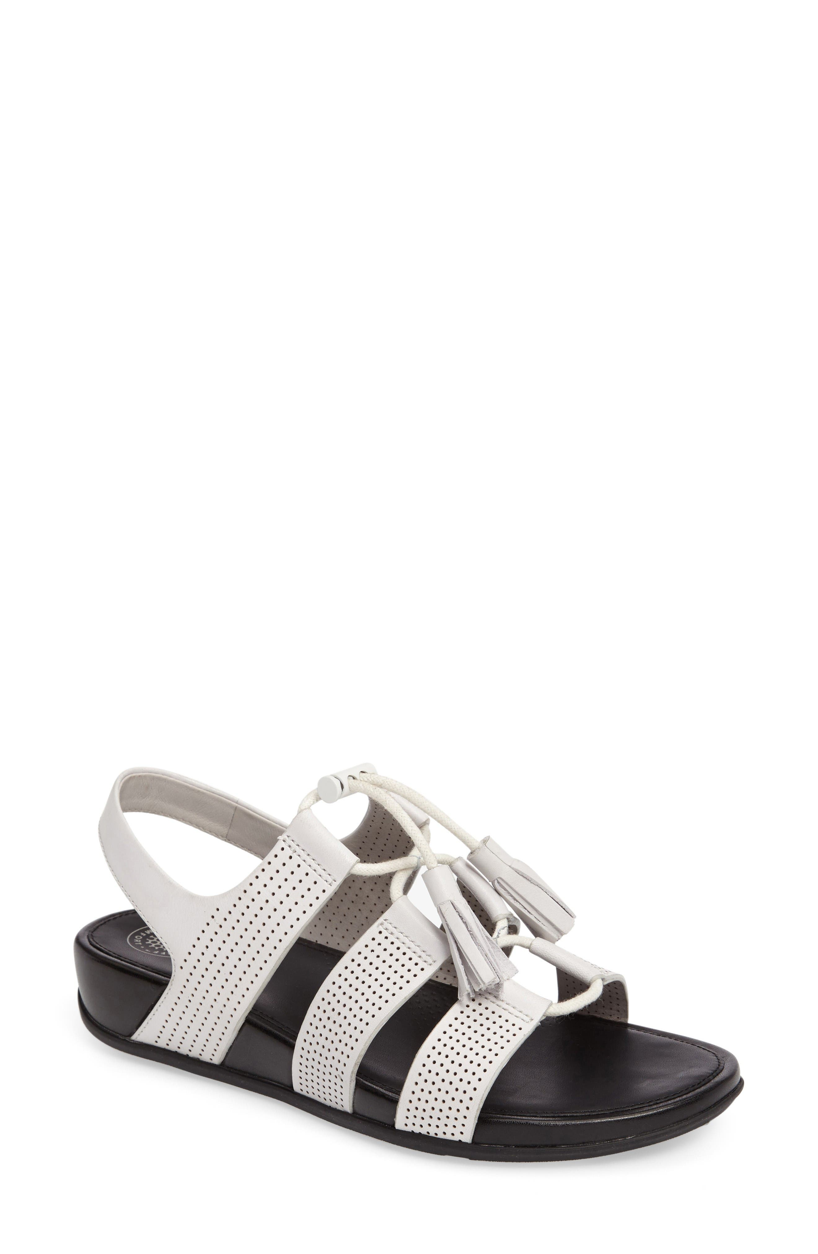 Alternate Image 1 Selected - FitFlop Gladdie Lace-Up Sandal (Women)