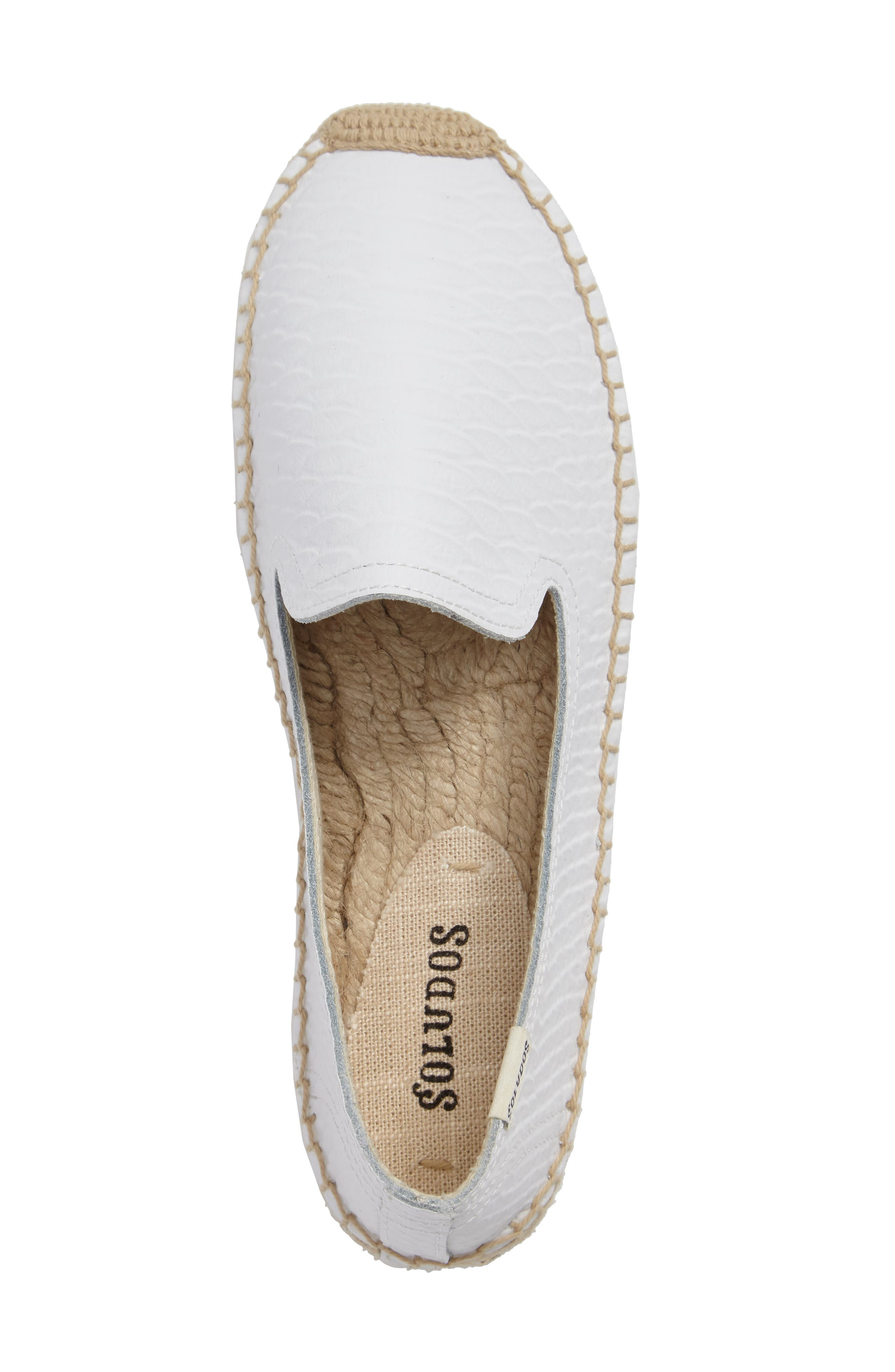 Espadrille Flat,                             Alternate thumbnail 3, color,                             White Leather