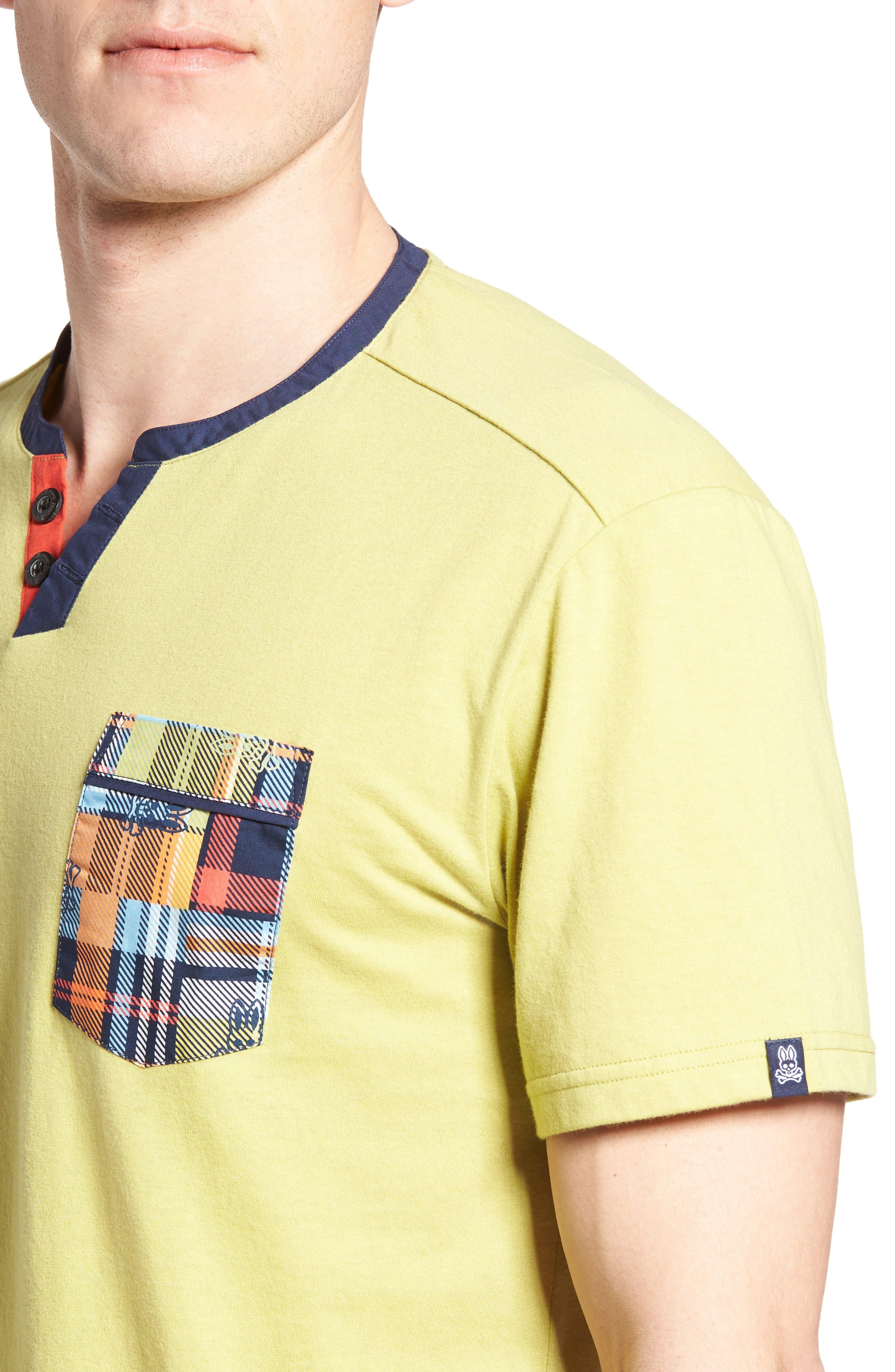Pocket Henley Lounge T-Shirt,                             Alternate thumbnail 4, color,                             Tea Leaves