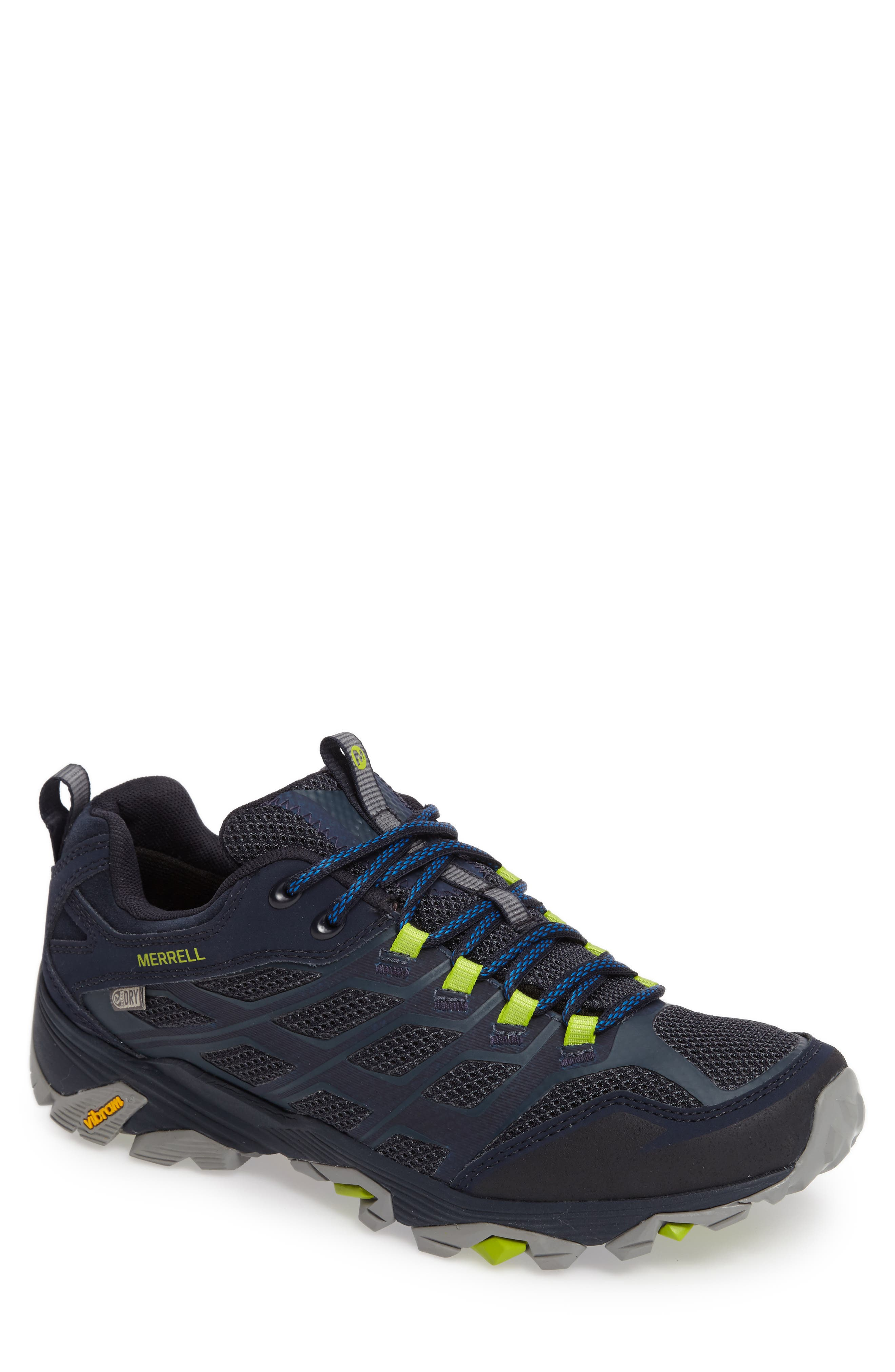 Moab FST Waterproof Hiking Shoe,                         Main,                         color, Navy