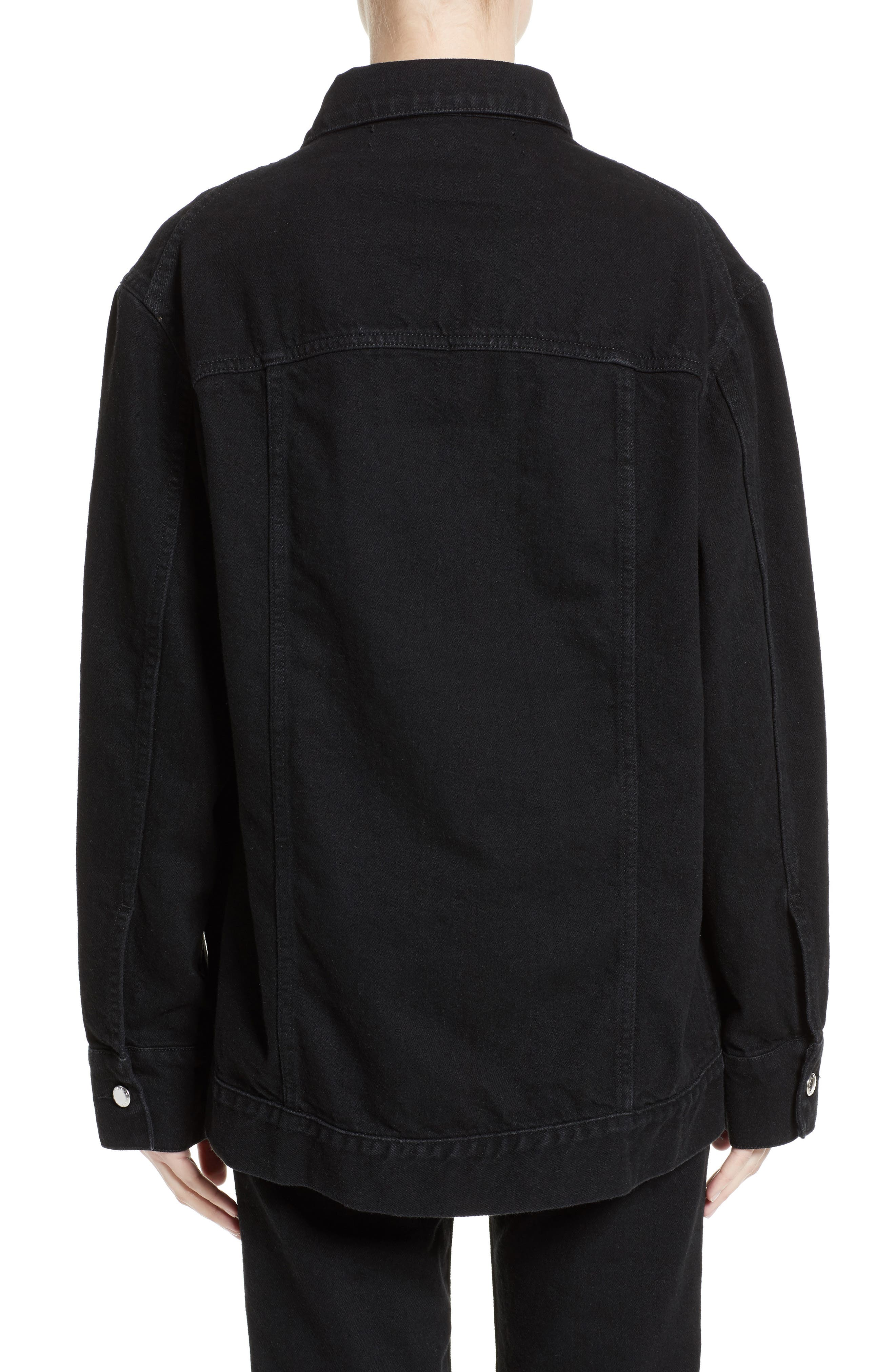 Denim Jacket,                             Alternate thumbnail 2, color,                             Almost Black