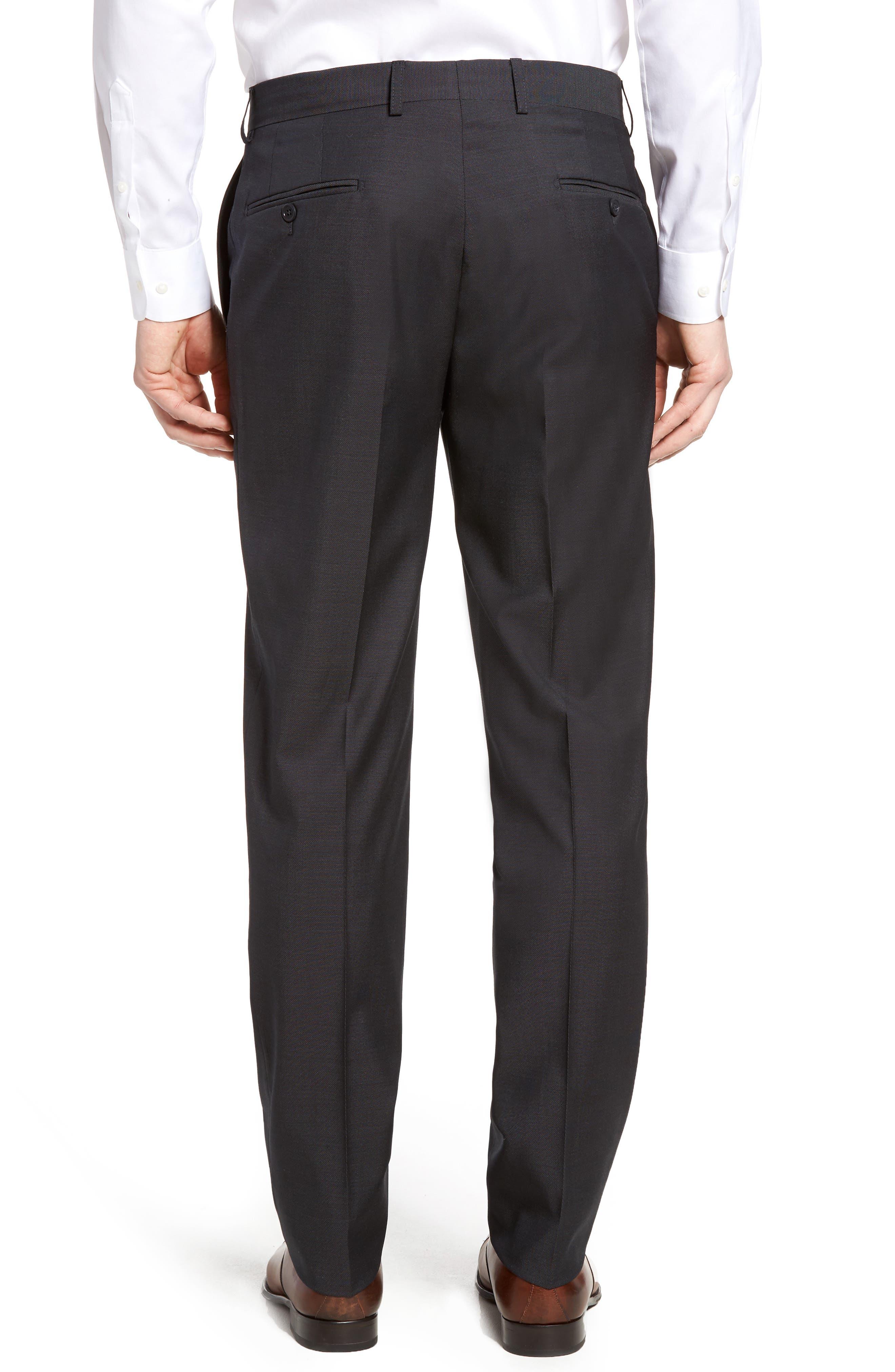 Pin Dot Wool Trousers,                             Alternate thumbnail 5, color,                             Medium Grey