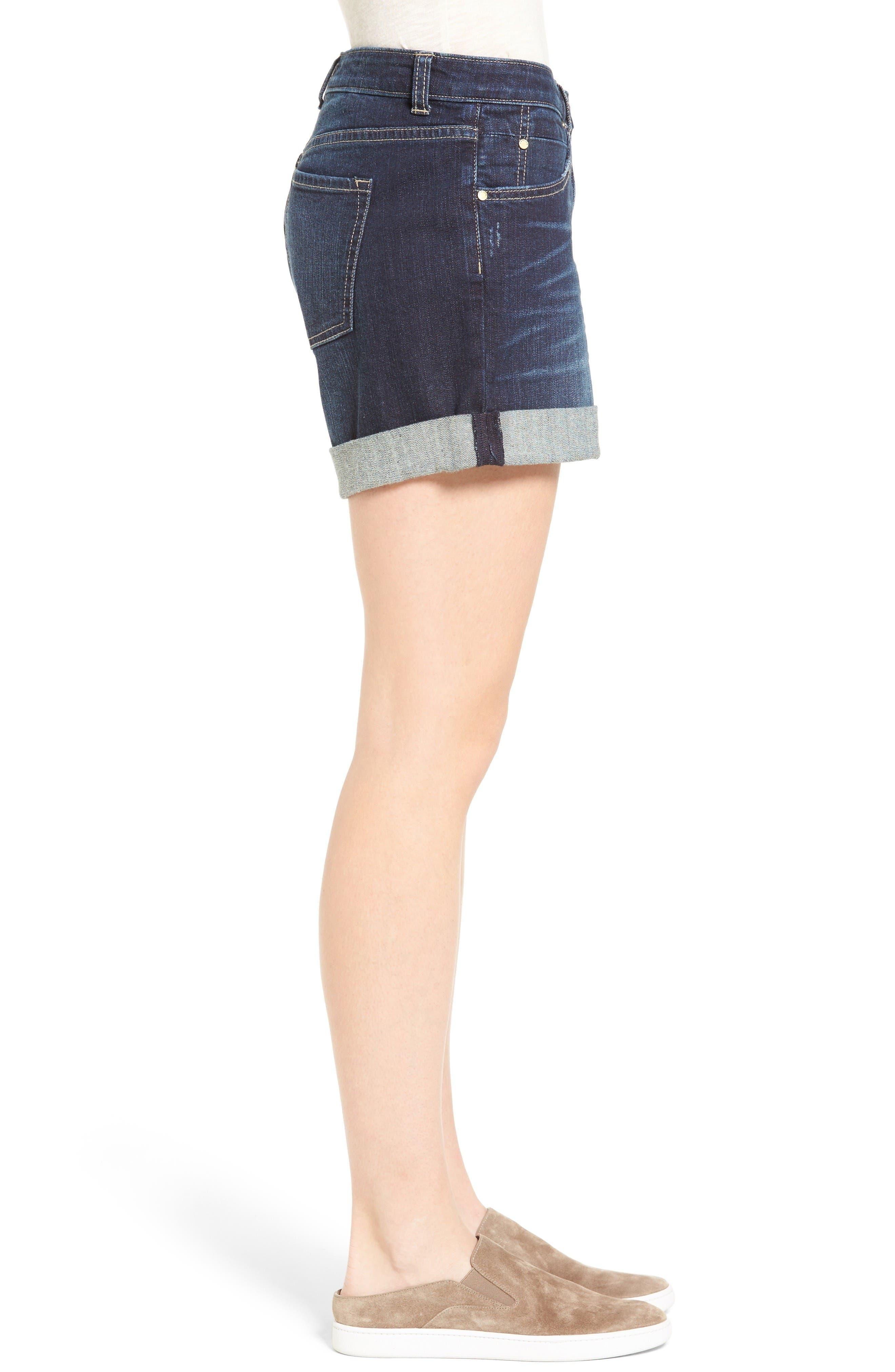 Alternate Image 4  - Caslon® Denim Boyfriend Shorts (Regular & Petite)