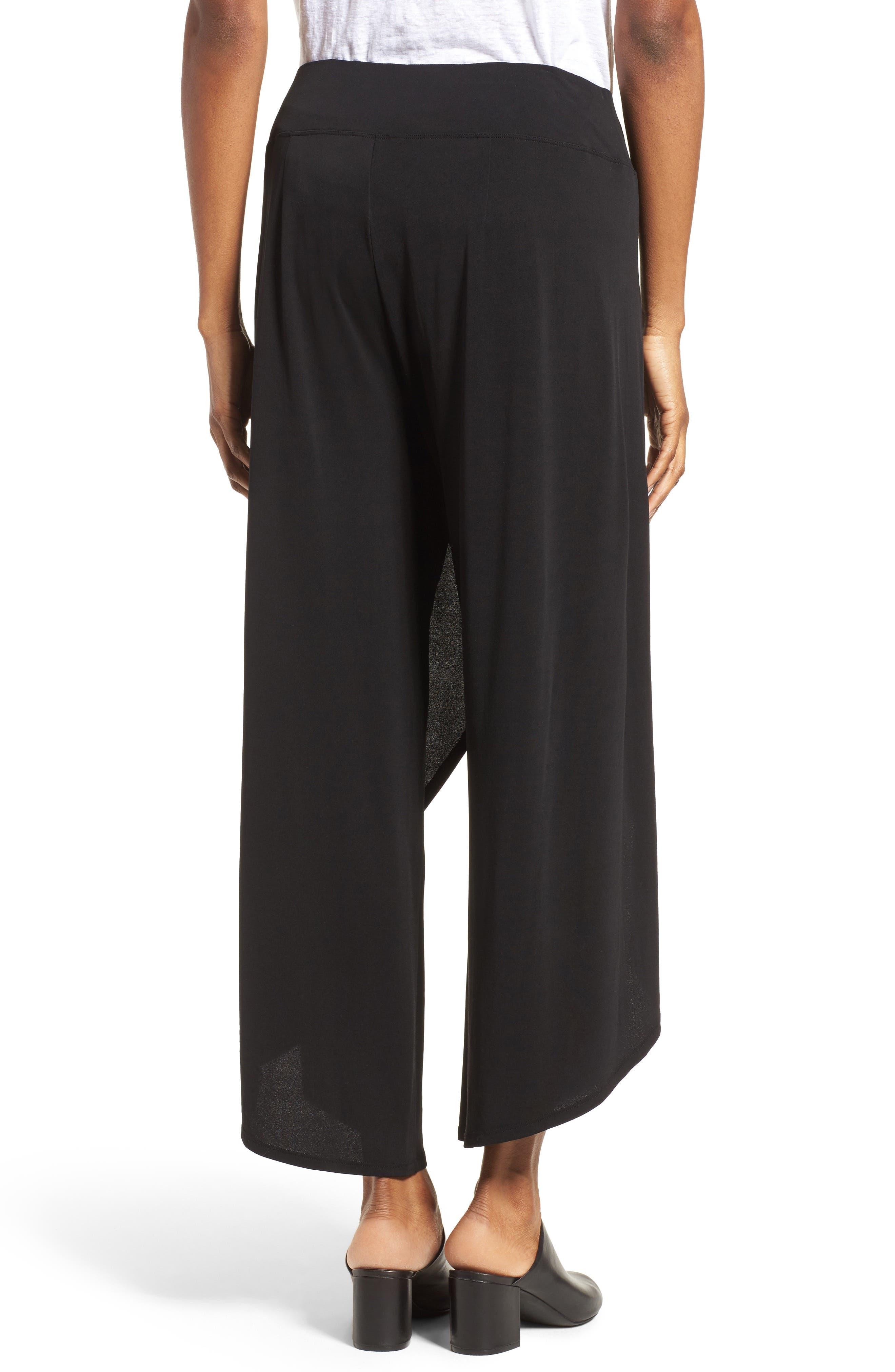 Alternate Image 2  - Eileen Fisher Silk Cross Front Wide Leg Pants