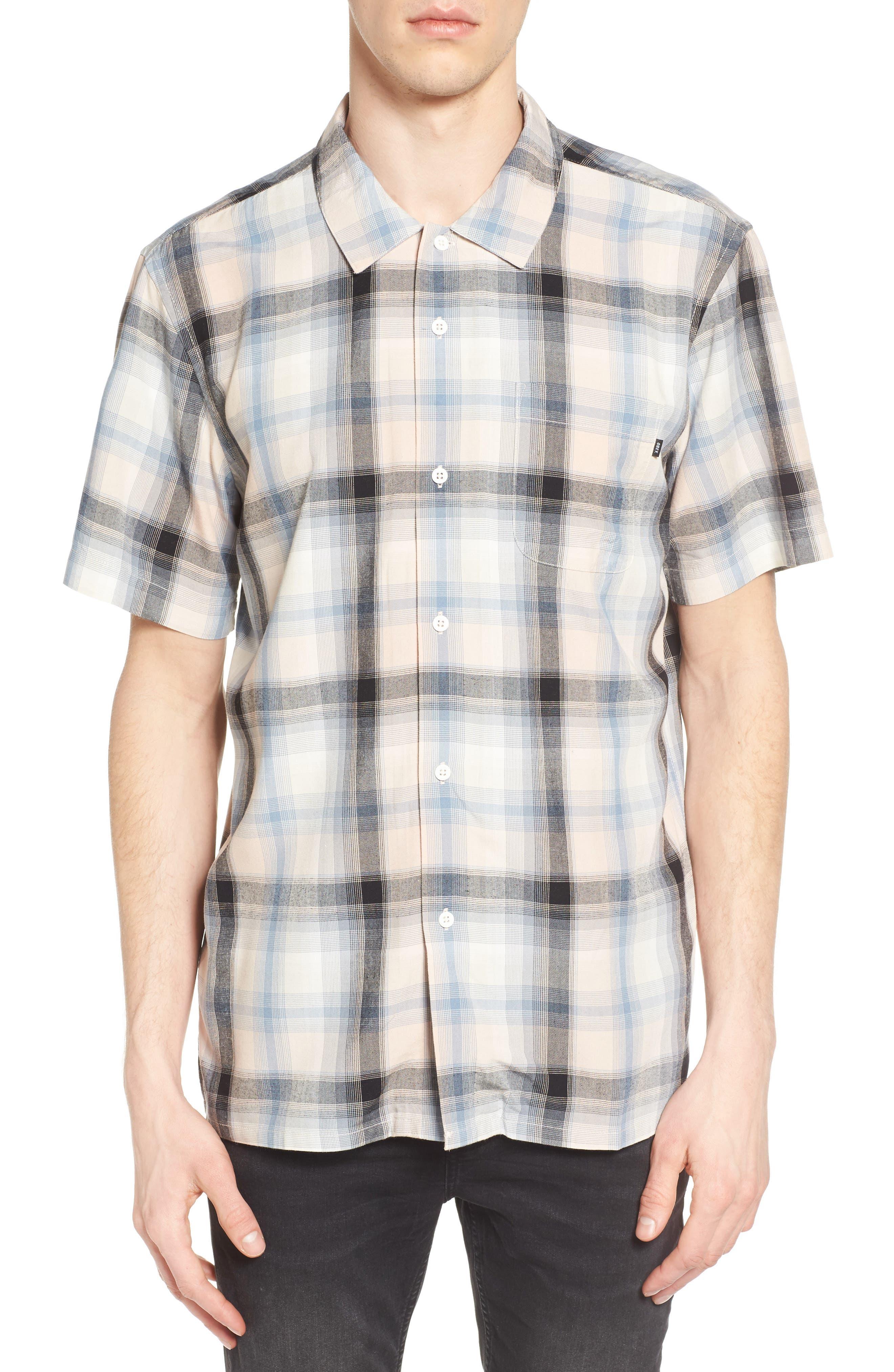 Obey Myles Glen Plaid Woven Shirt