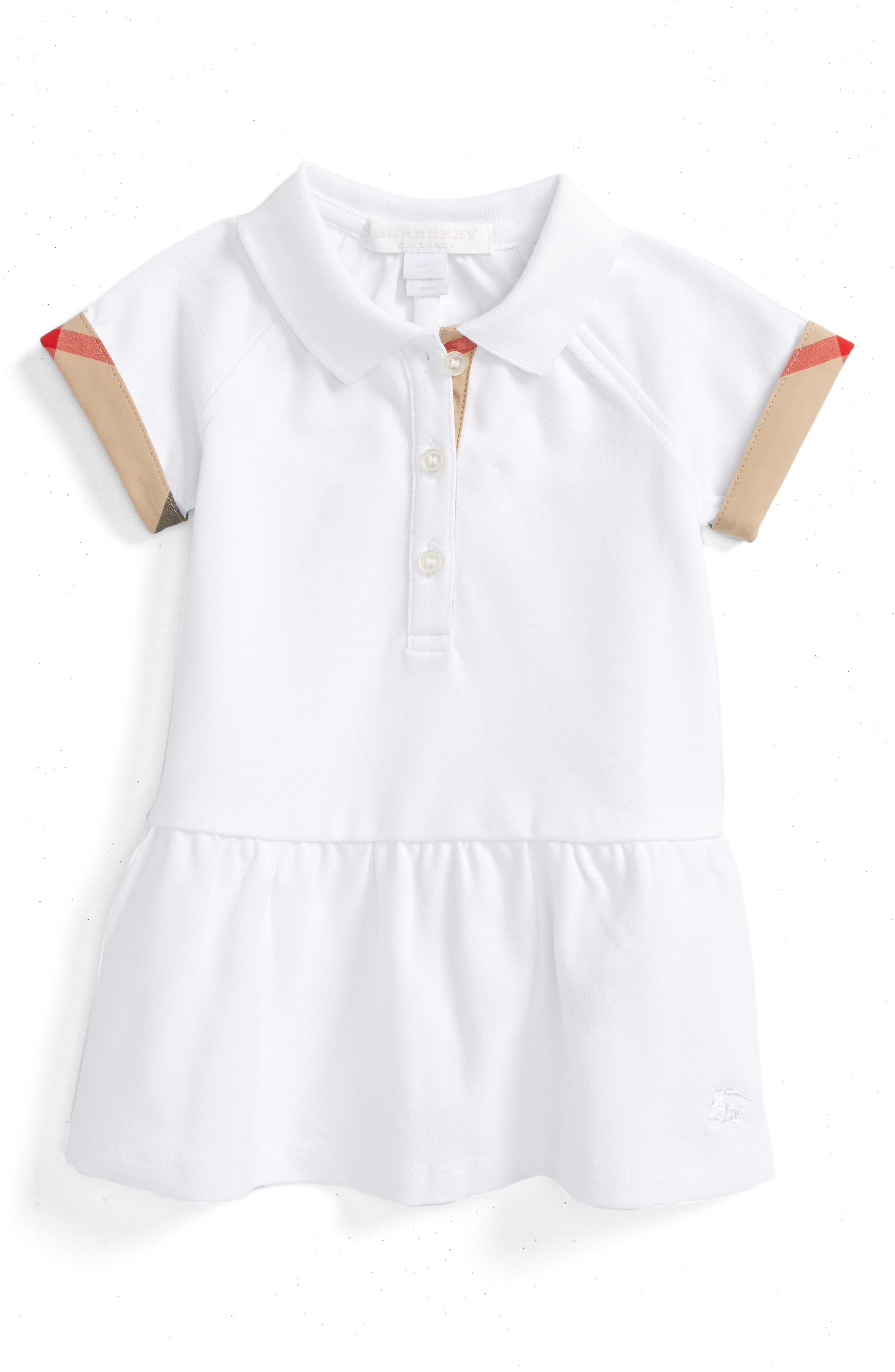 Main Image - Burberry 'Mini Cali' Polo Dress (Baby Girls)