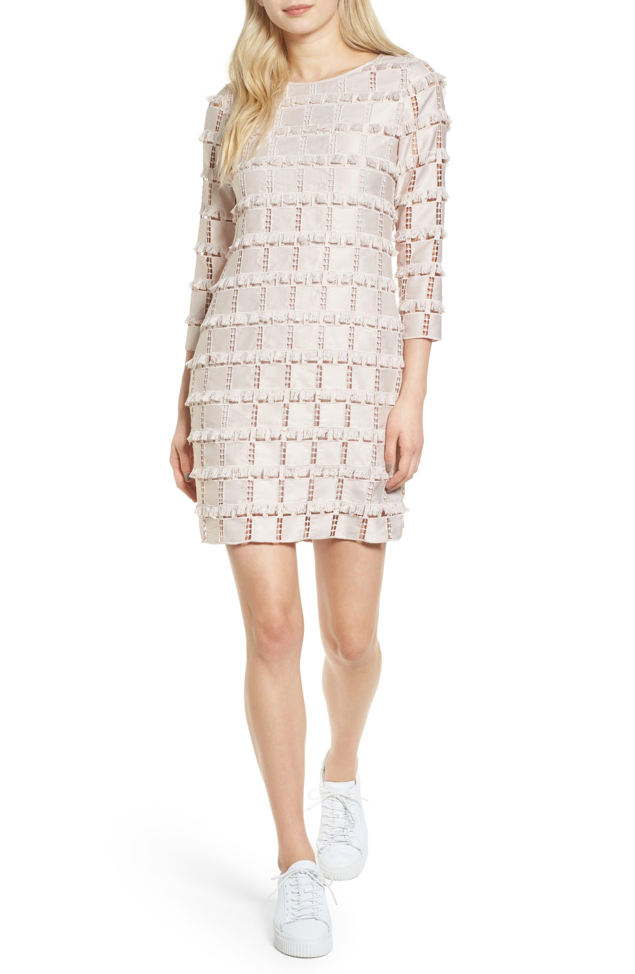 Guipure Shift Dress,                         Main,                         color, Pale Violet