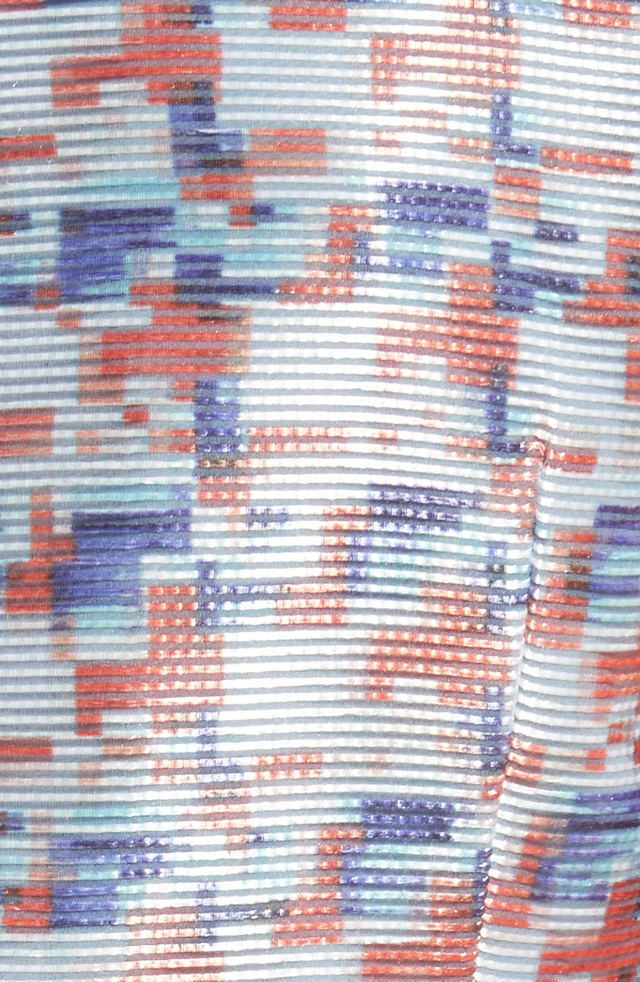 Pixel Print Fit & Flare Dress,                             Alternate thumbnail 3, color,                             Pixel Print