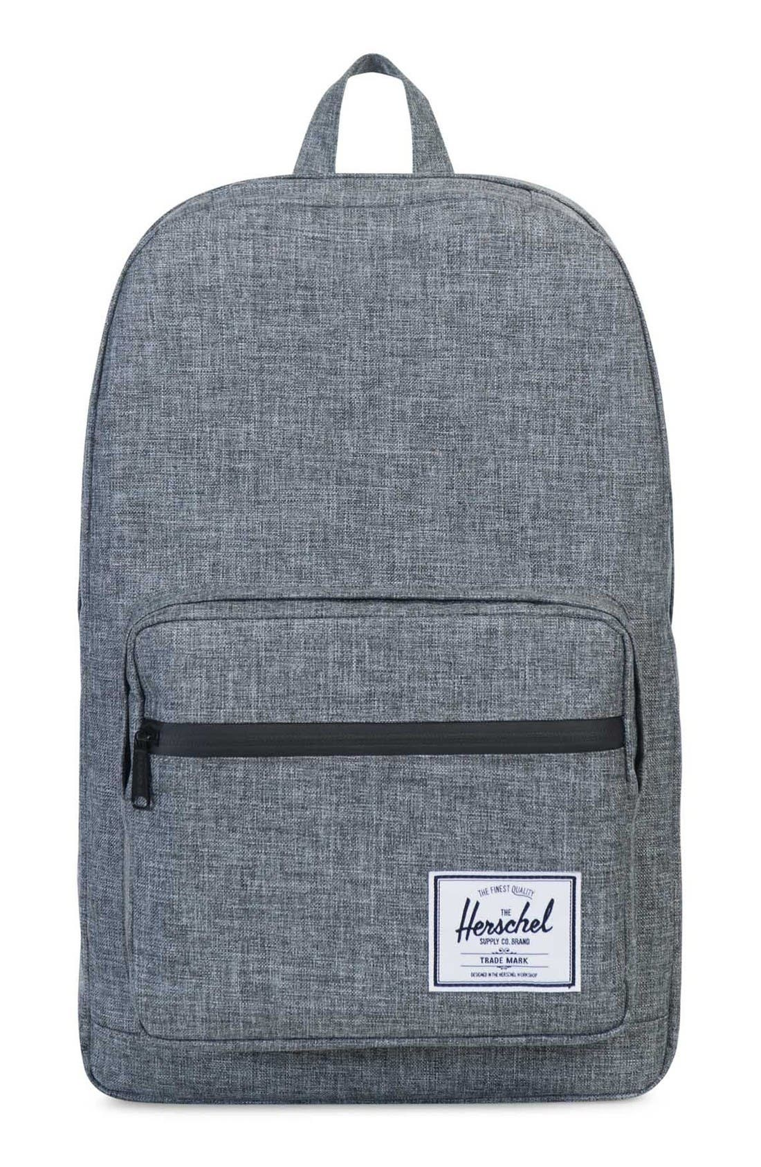 'Pop Quiz' Backpack,                         Main,                         color, Raven Crosshatch