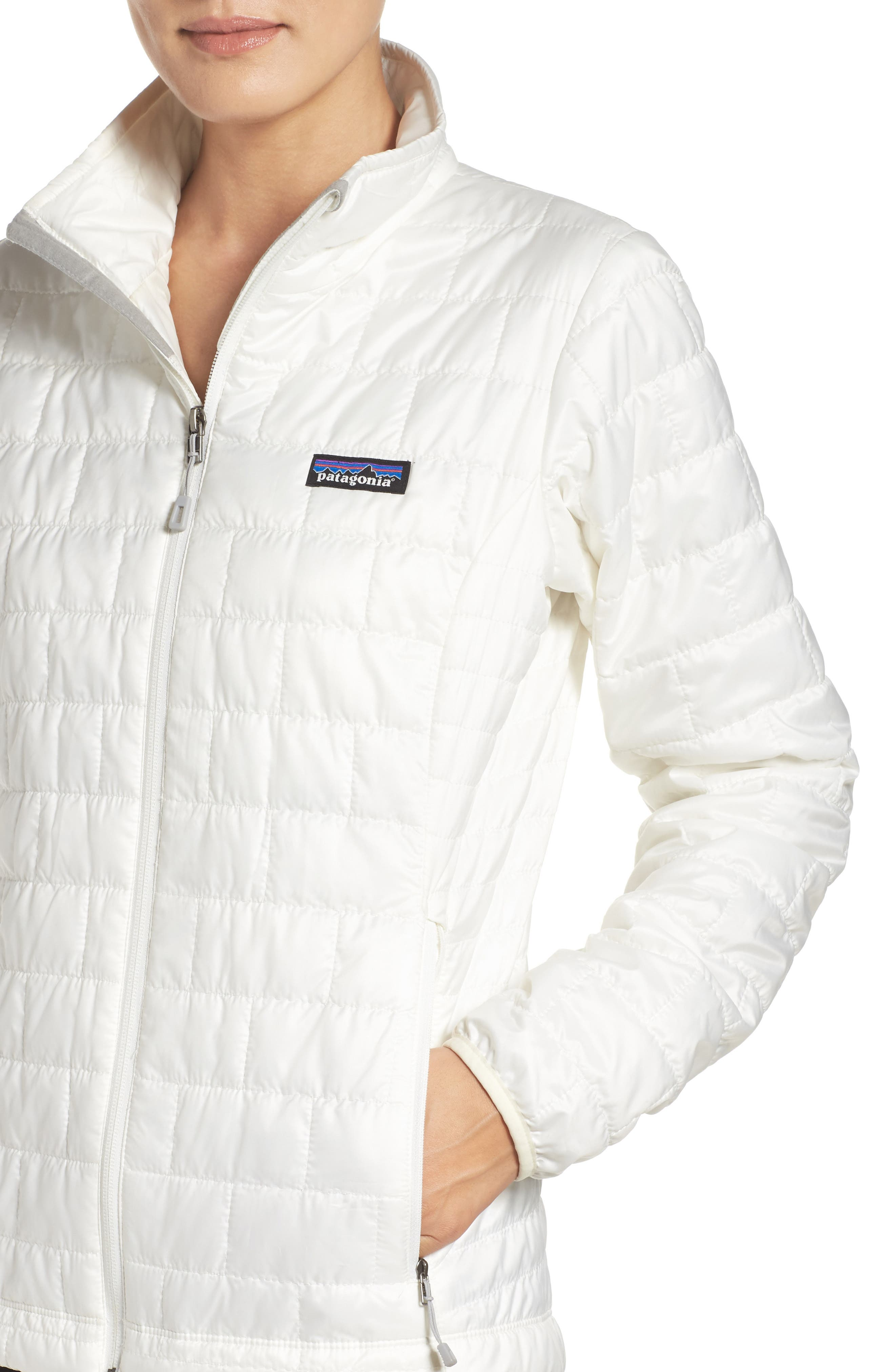 Nano Puff<sup>®</sup> Water Resistant Jacket,                             Alternate thumbnail 4, color,                             Birch White