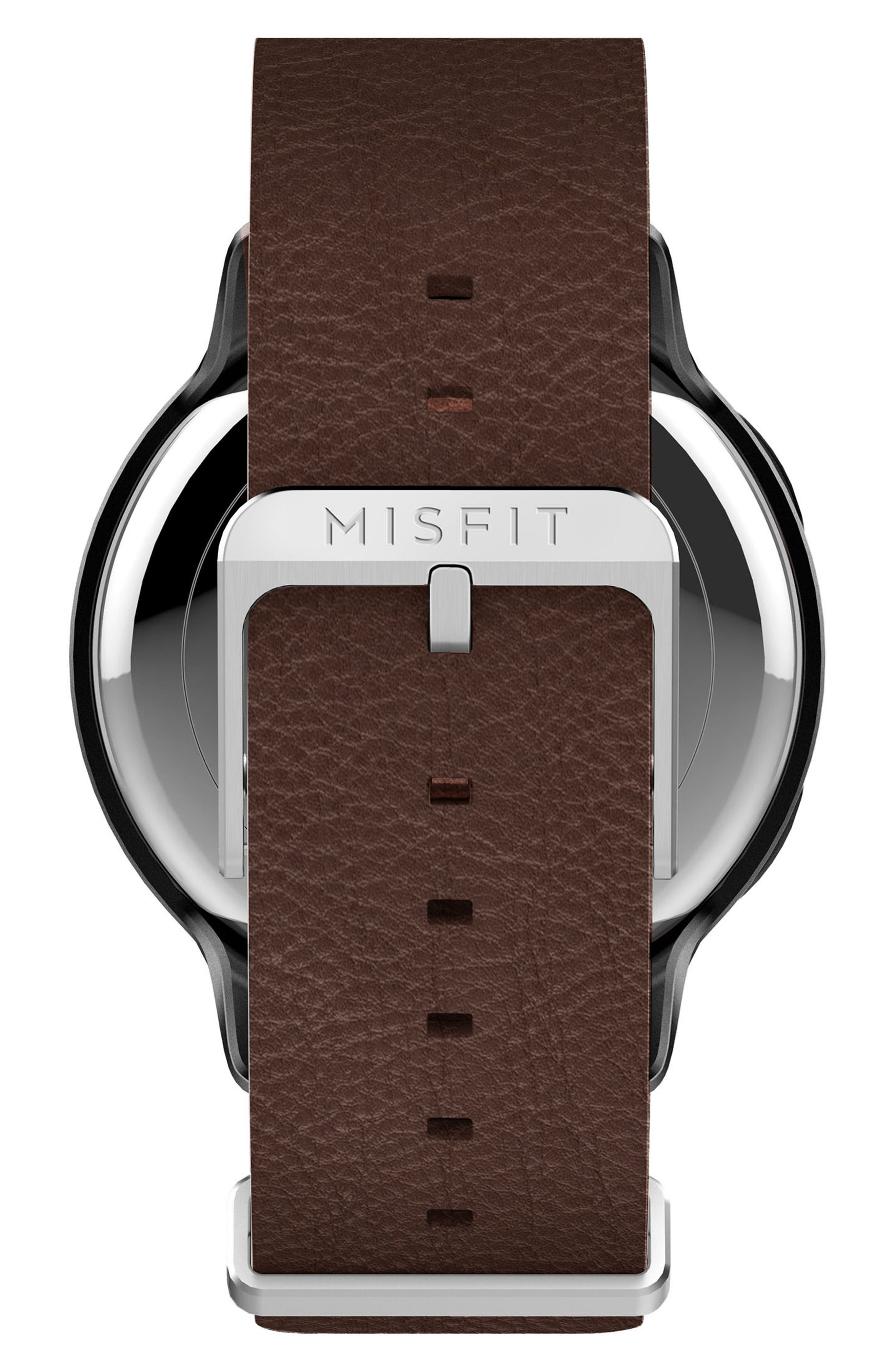 Alternate Image 3  - Misfit Phase Leather Strap Smart Watch, 40mm