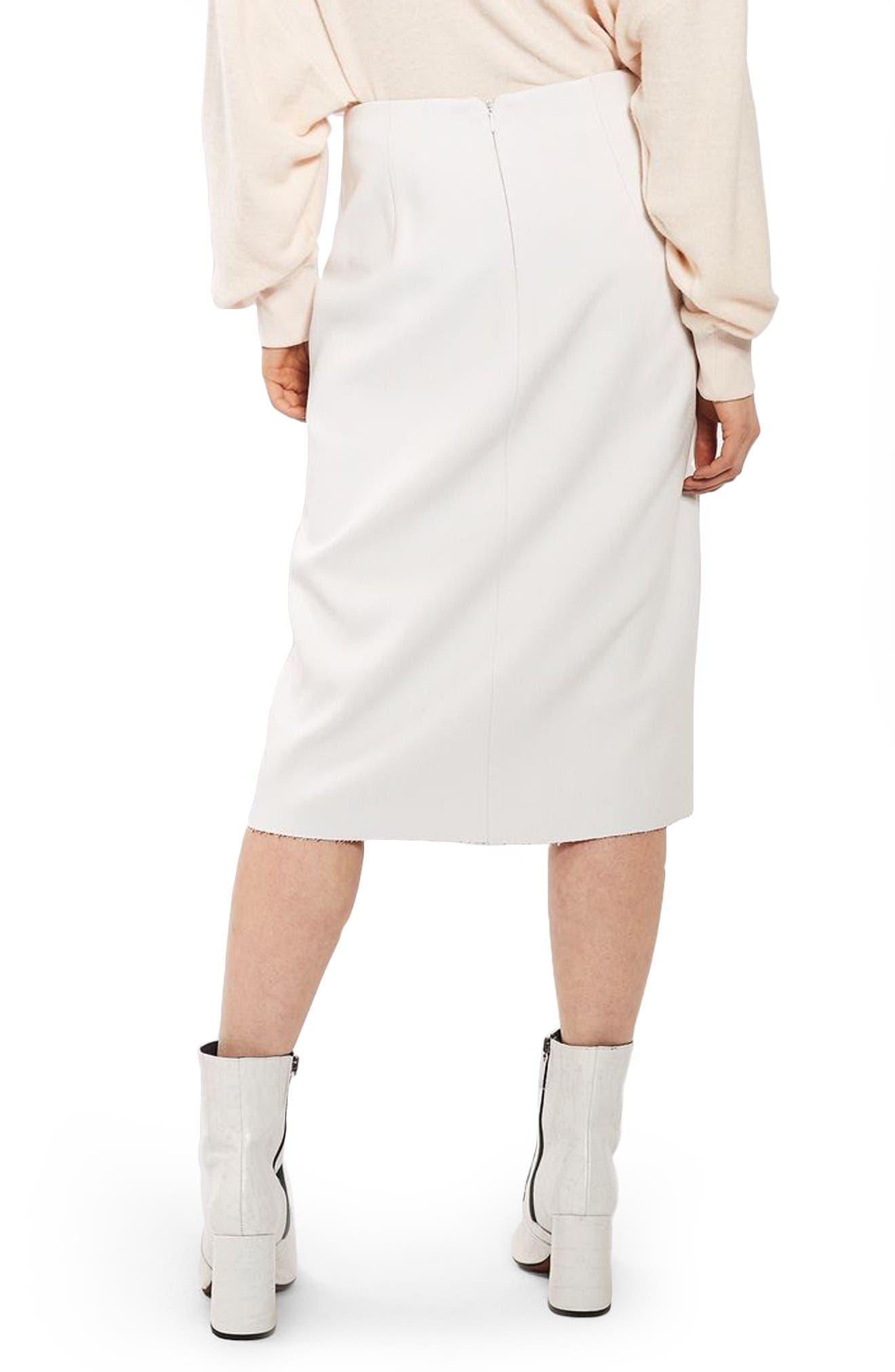 Alternate Image 3  - Topshop Snap Midi Skirt