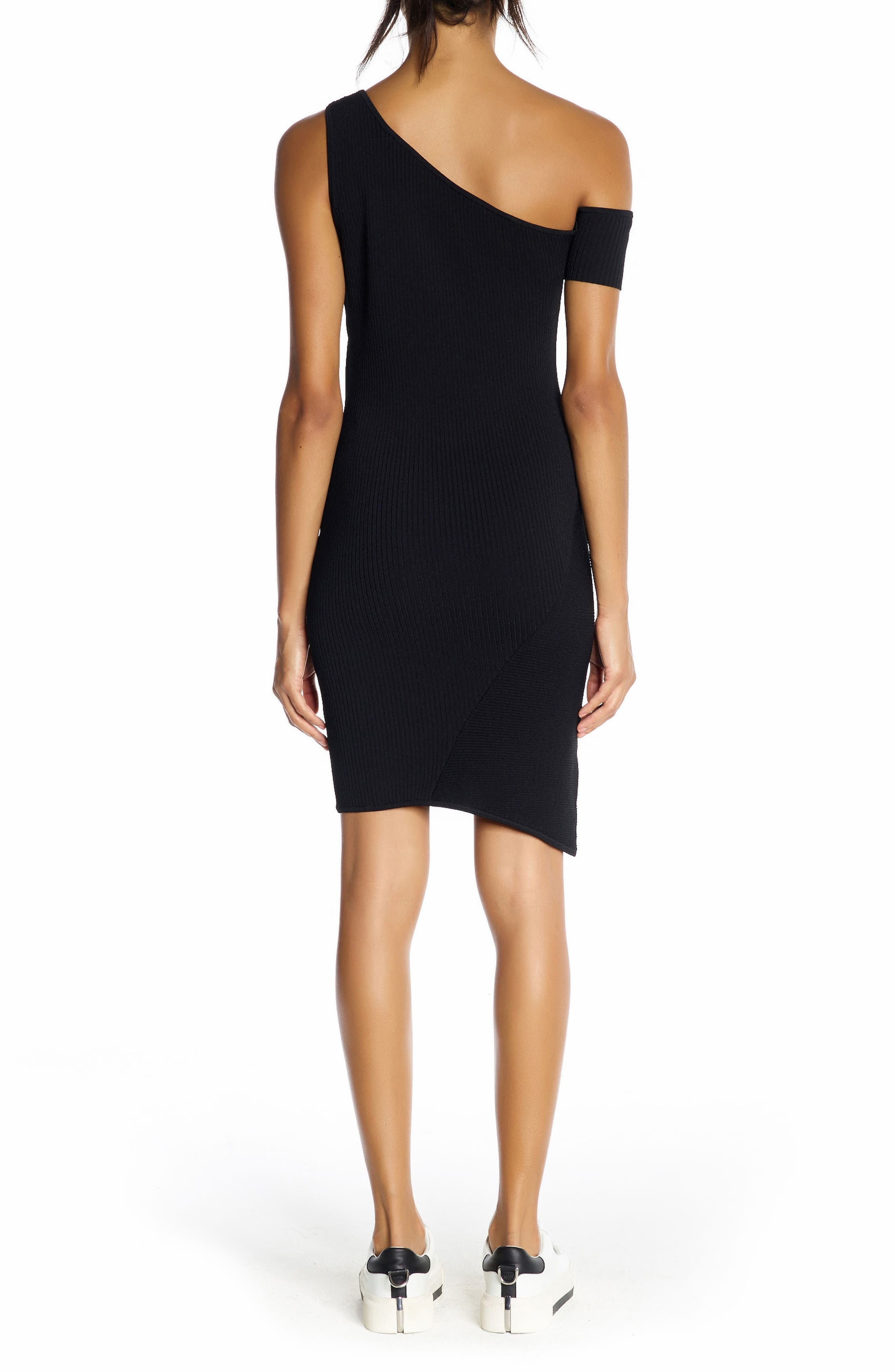 Alternate Image 2  - KENDALL + KYLIE One-Shoulder Body-Con Dress