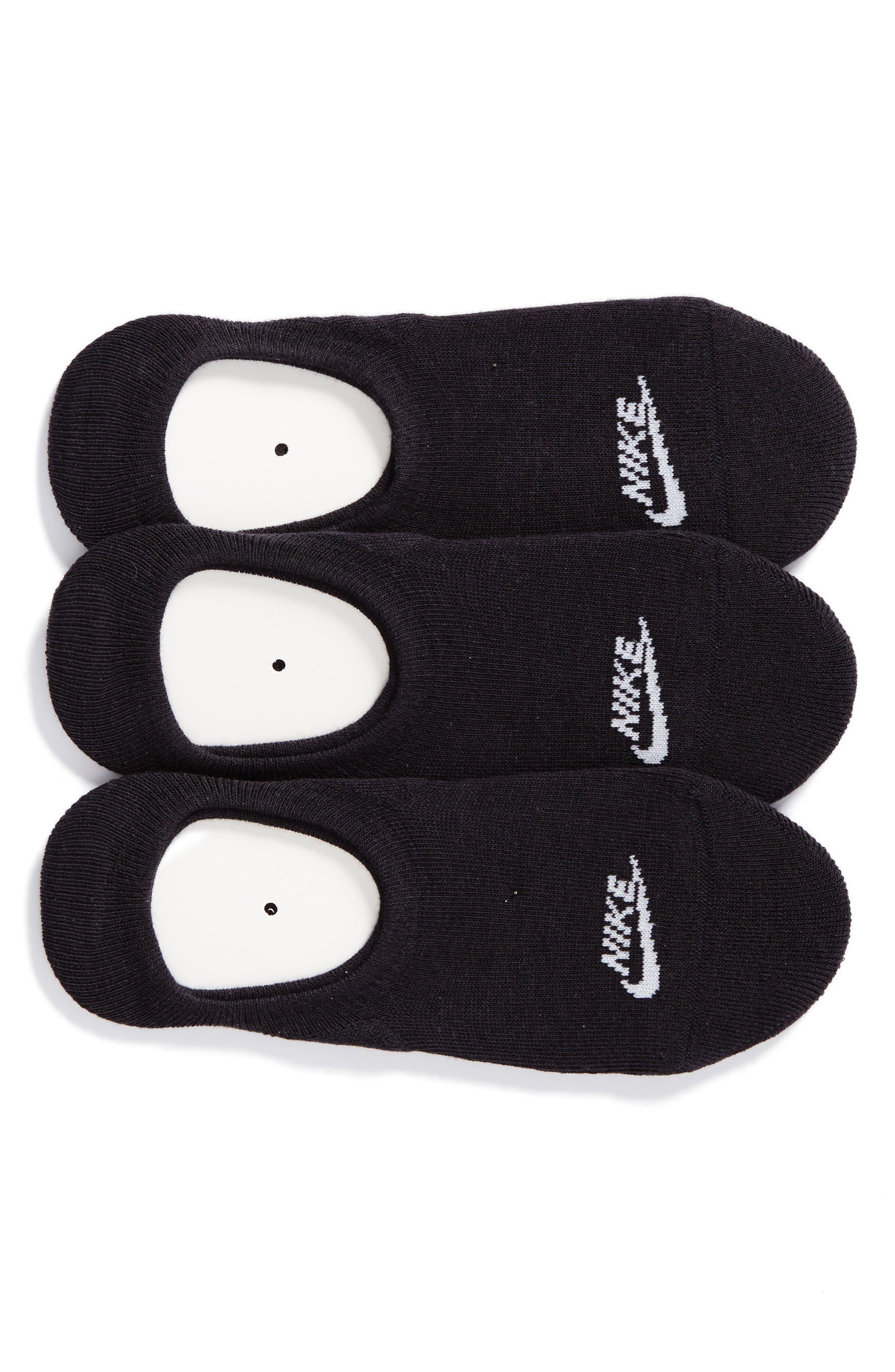 3-Pack No-Show Training Socks,                             Main thumbnail 1, color,                             Black