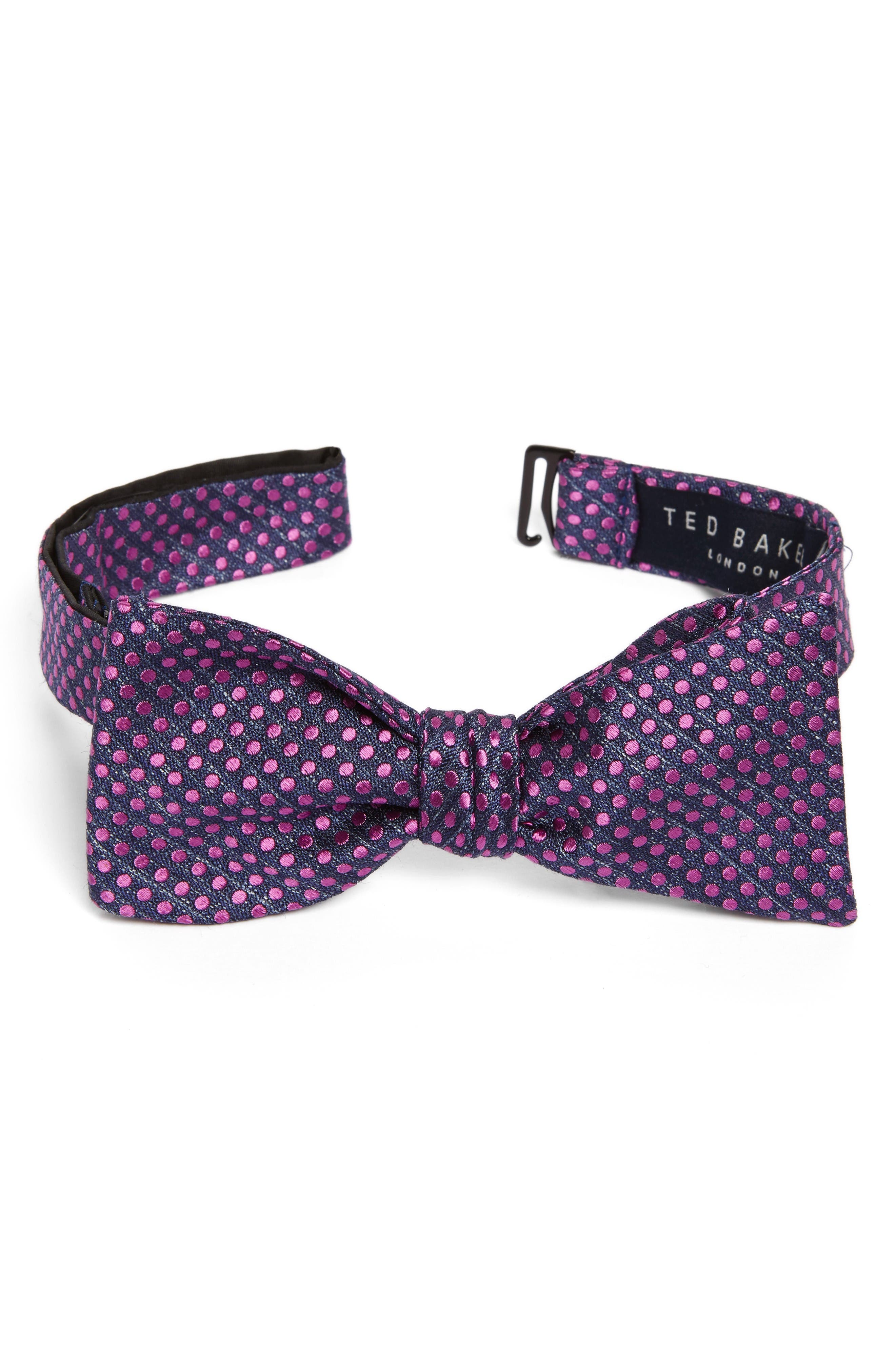 TED BAKER LONDON Tussah Party Dot Silk Bow Tie