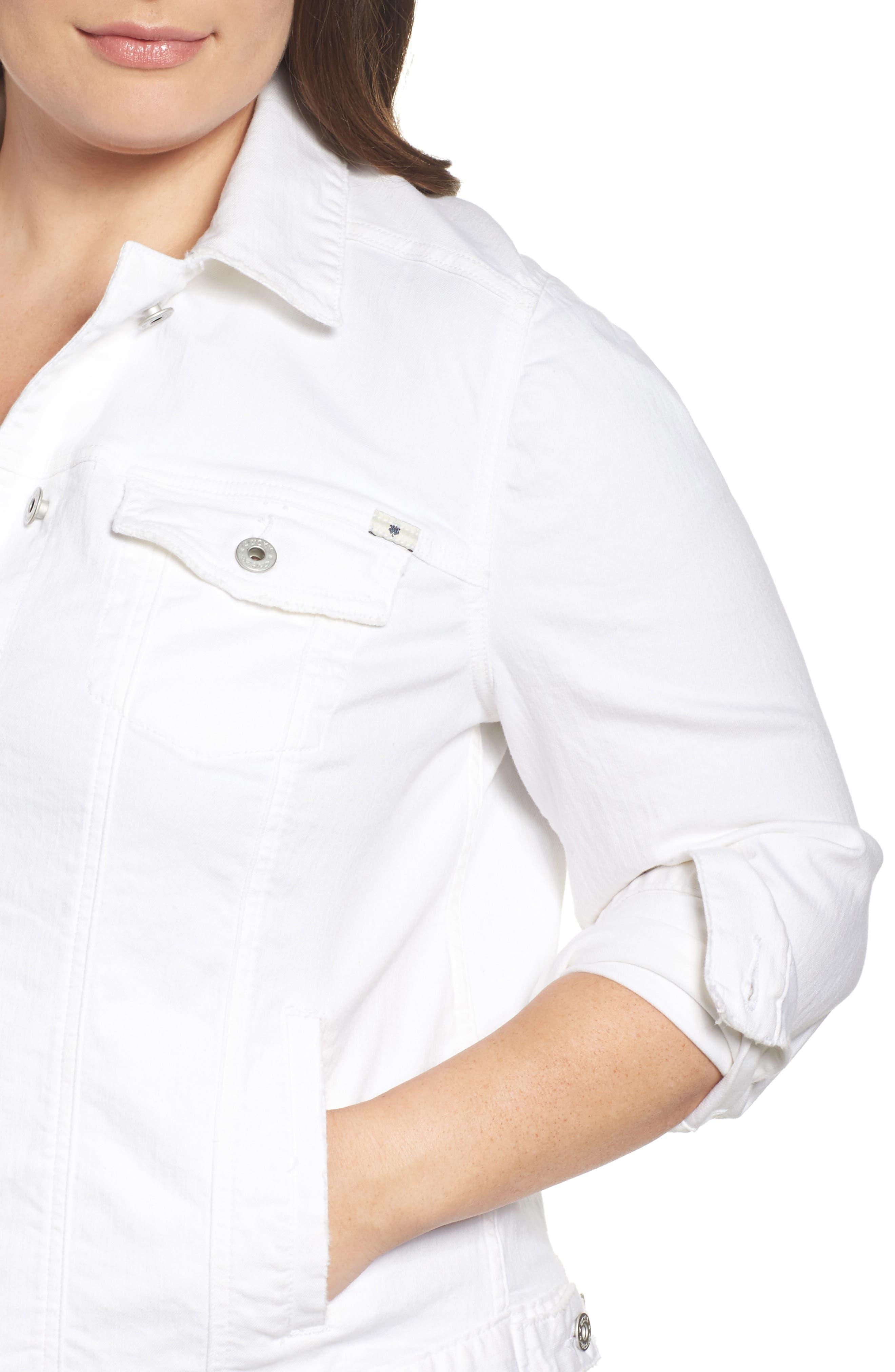 Alternate Image 4  - Lucky Brand Floral Trucker Jacket (Plus Size)