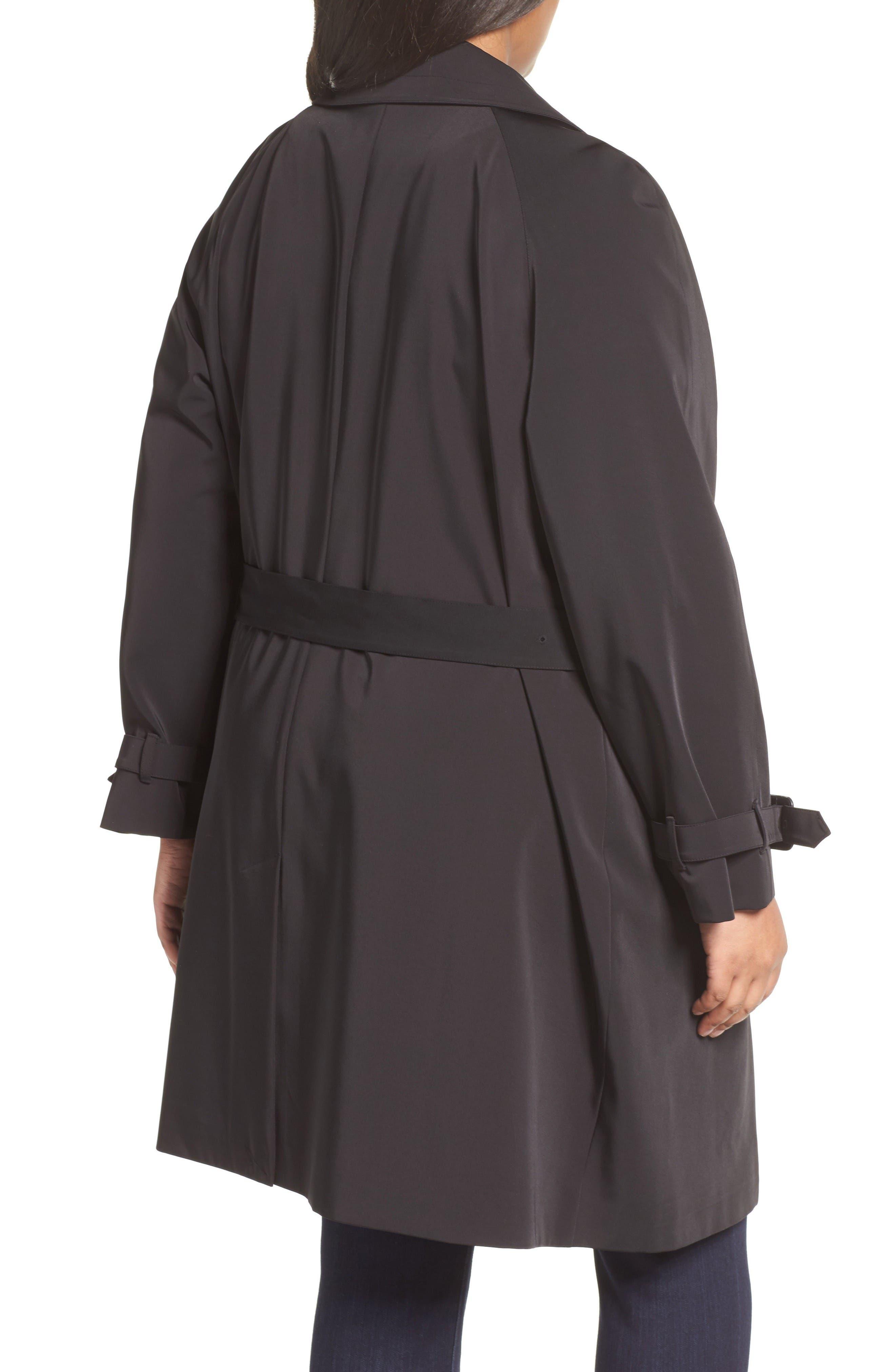 Alternate Image 2  - MICHAEL Michael Kors Trench Coat (Plus Size)